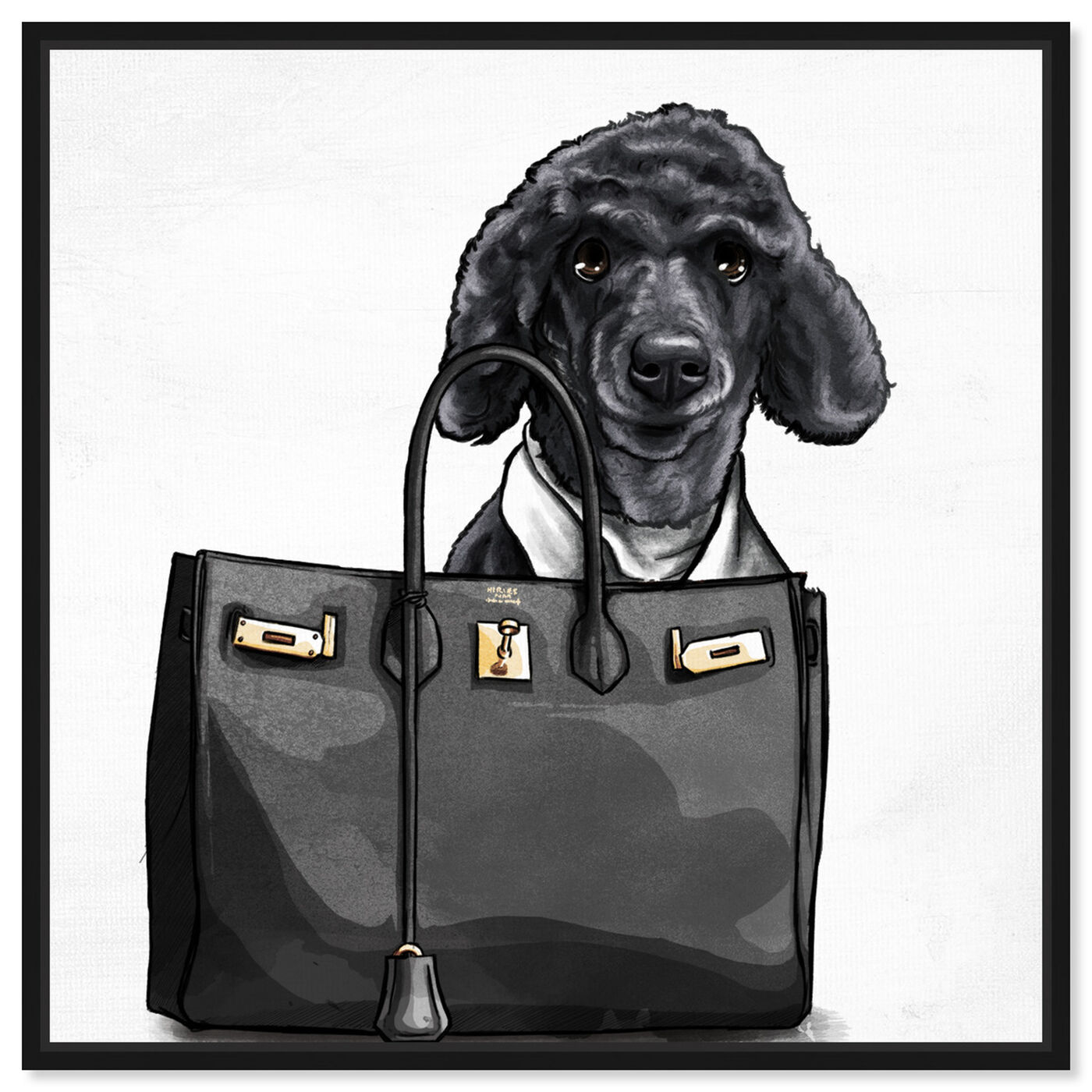 Front view of Handbag Bestie Custom featuring fashion and glam and handbags art.