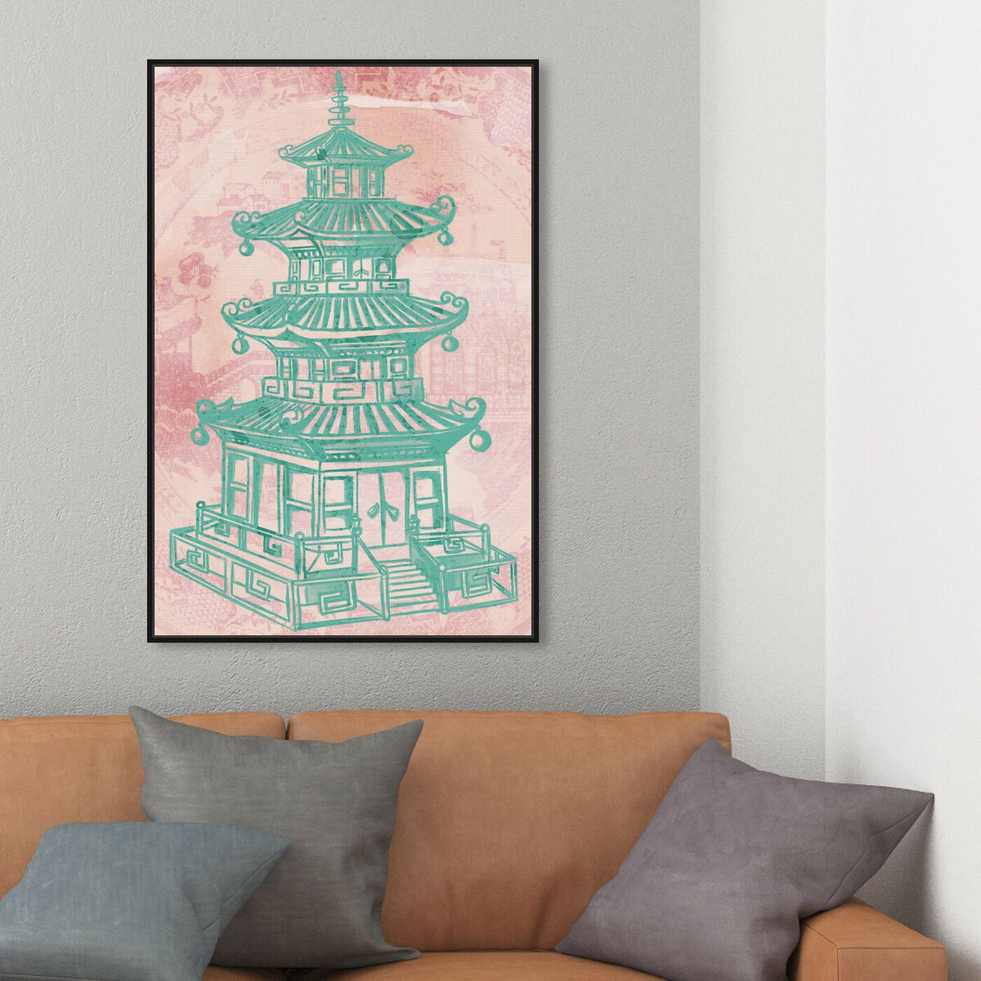 Hanging view of Pagoda Rose featuring world and countries and asian cultures art.