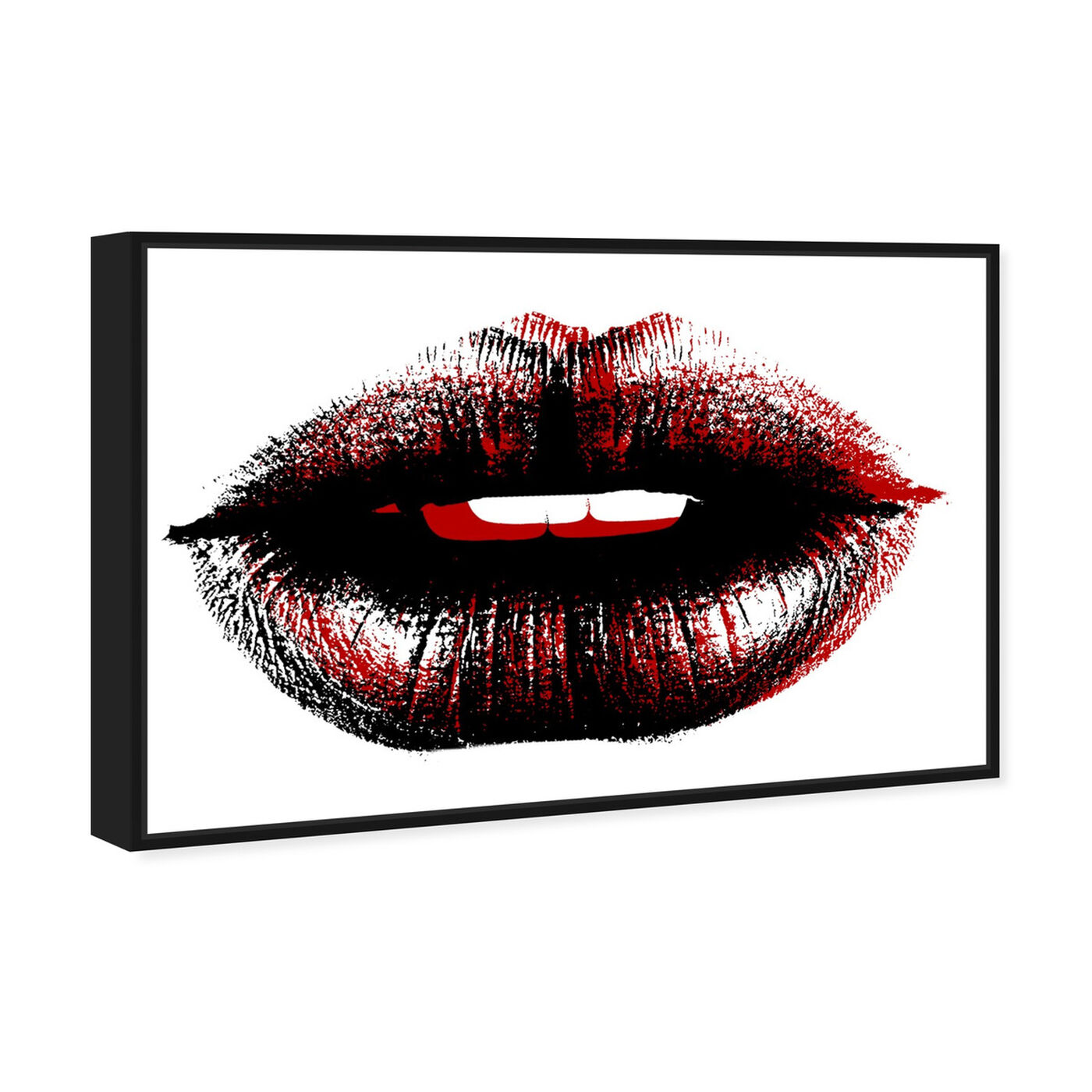 Angled view of Bond Girl Lips featuring fashion and glam and lips art.