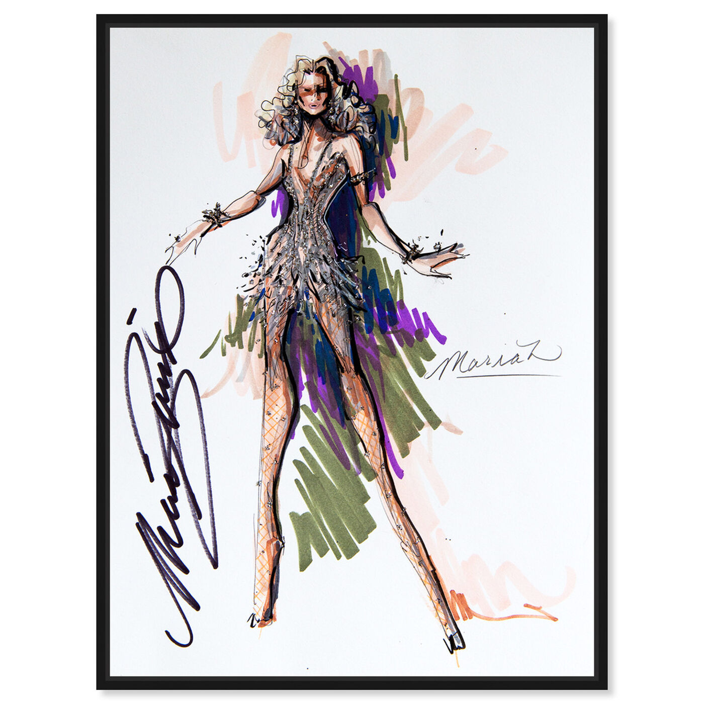 Front view of Mark Zunino - Queen M featuring fashion and glam and sketches art.