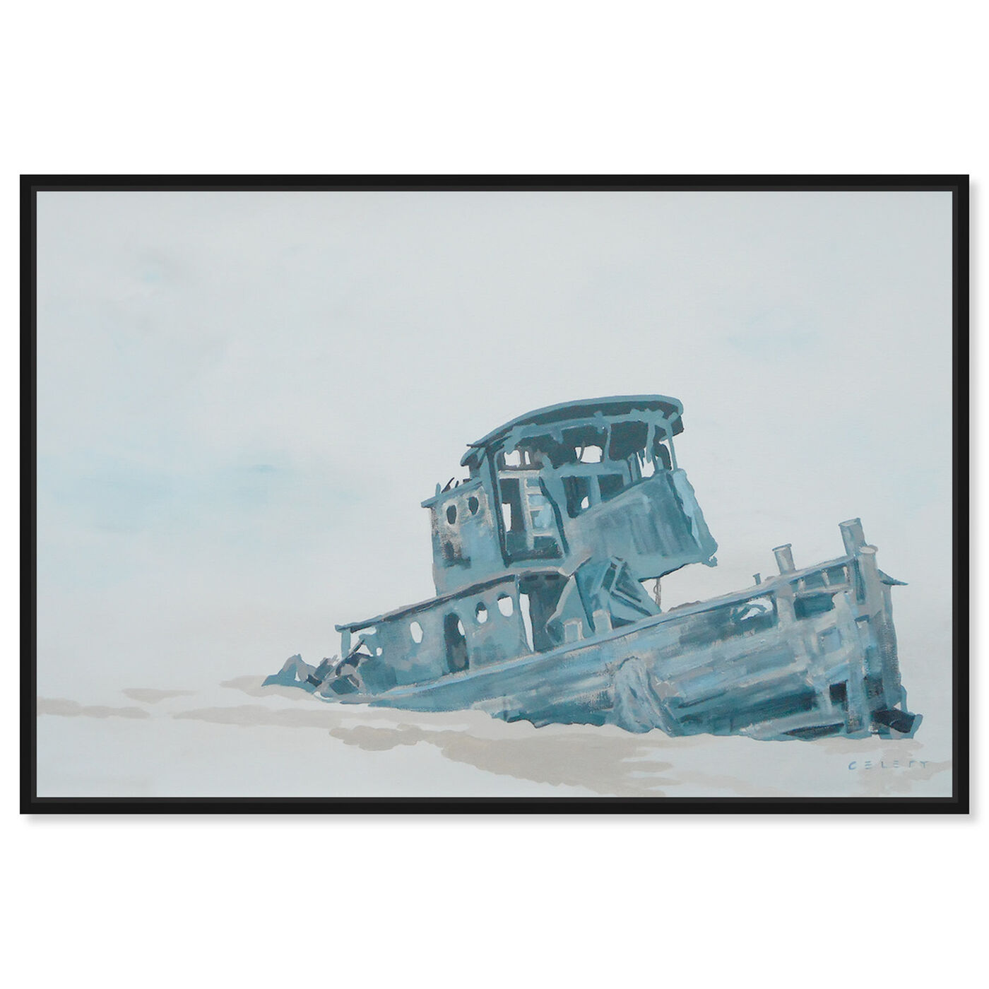 Front view of Celery Jones - I'l Just Leave This Right Here featuring nautical and coastal and nautical watercrafts art.