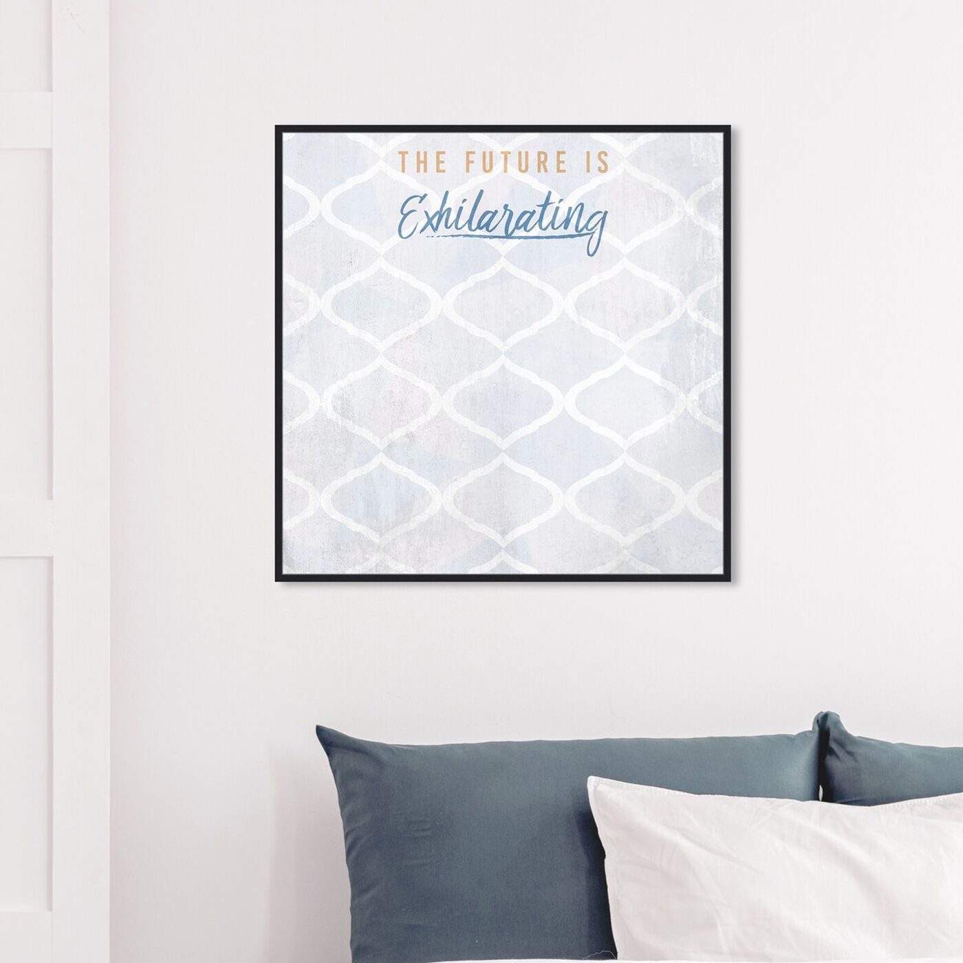 Hanging view of The Future featuring typography and quotes and motivational quotes and sayings art.