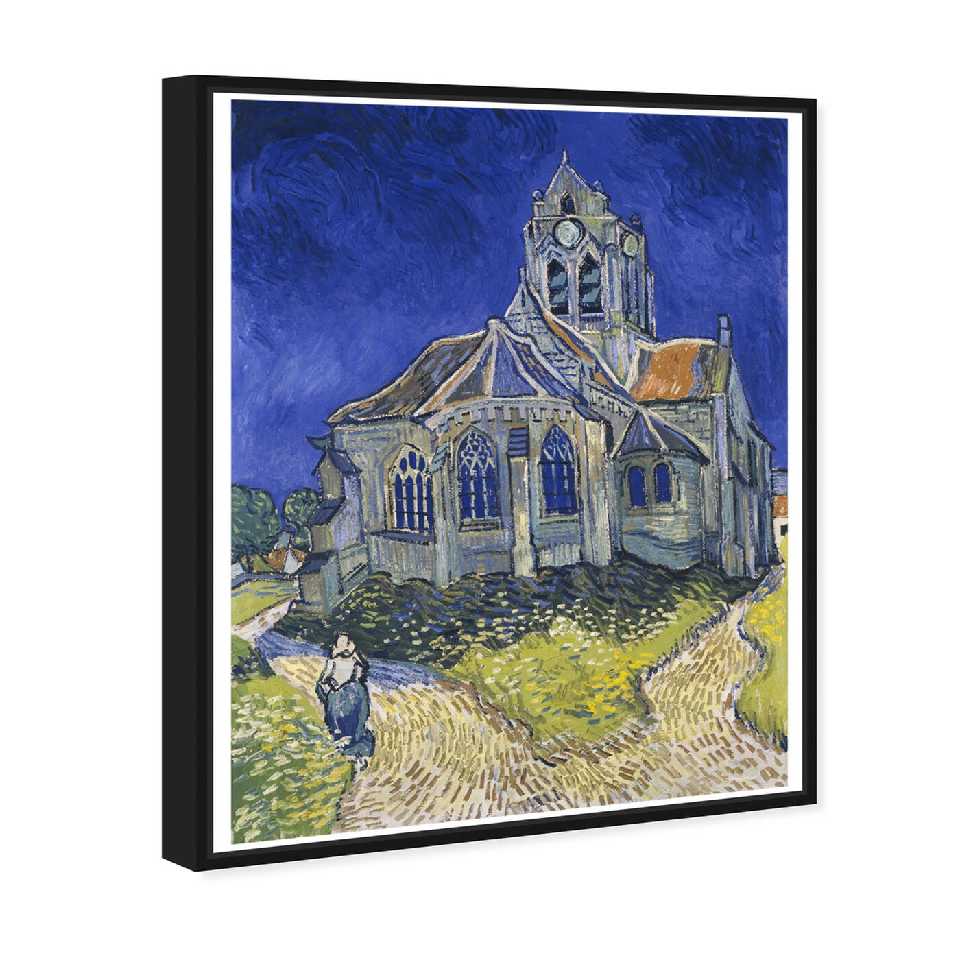 Angled view of Van Gogh - The Church in Auvers Sur Oise featuring classic and figurative and impressionism art.