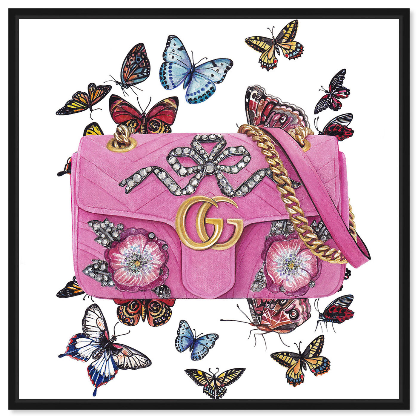 Front view of Doll Memories - Butterfly Bag featuring fashion and glam and handbags art.