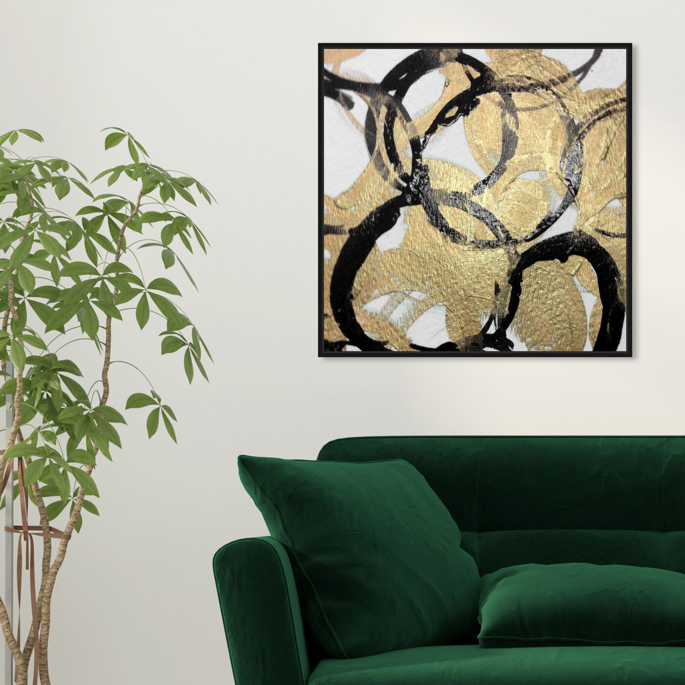 Hanging view of Carmina featuring abstract and shapes art.
