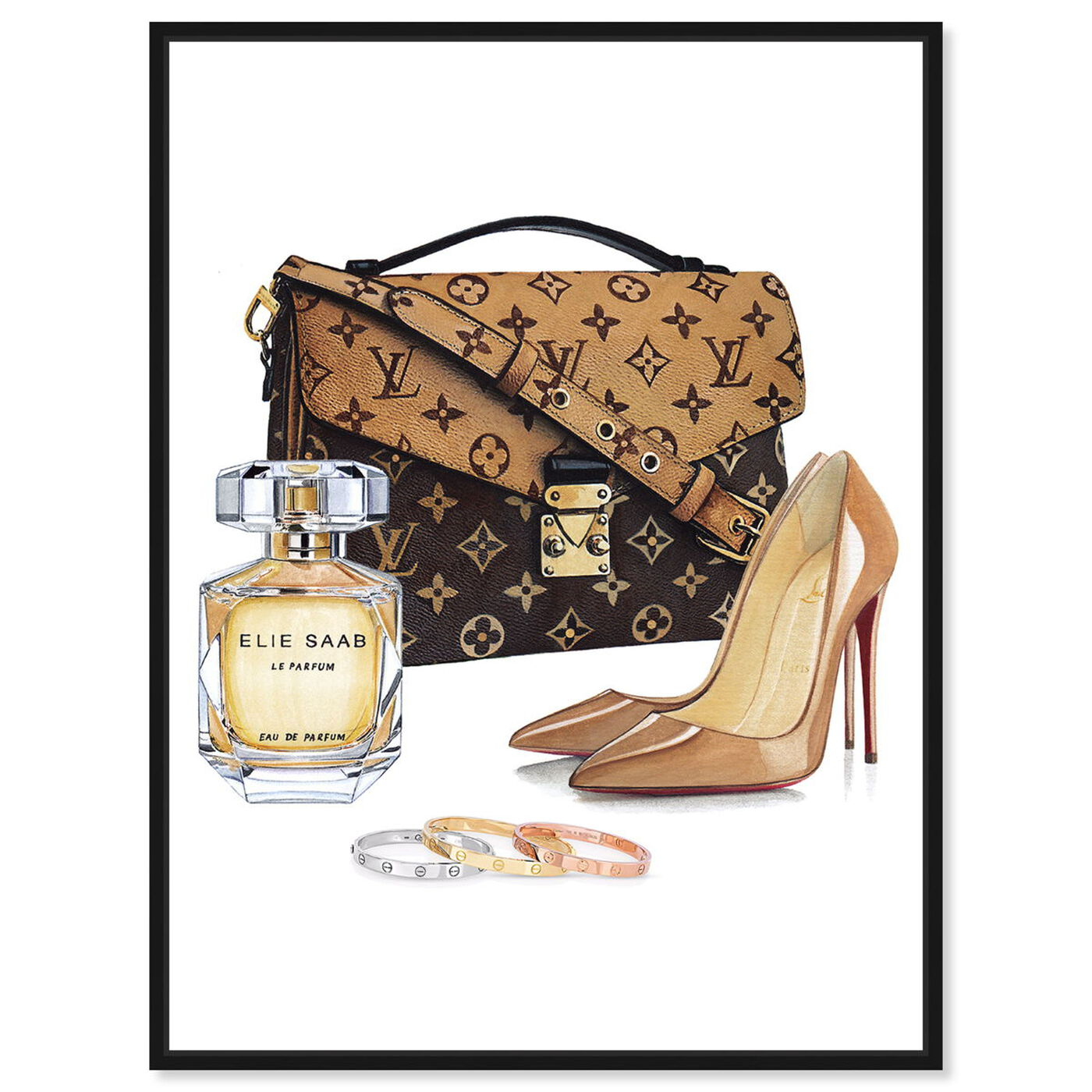 Front view of Doll Memories-Luxury Shoes NUDE featuring fashion and glam and shoes art.
