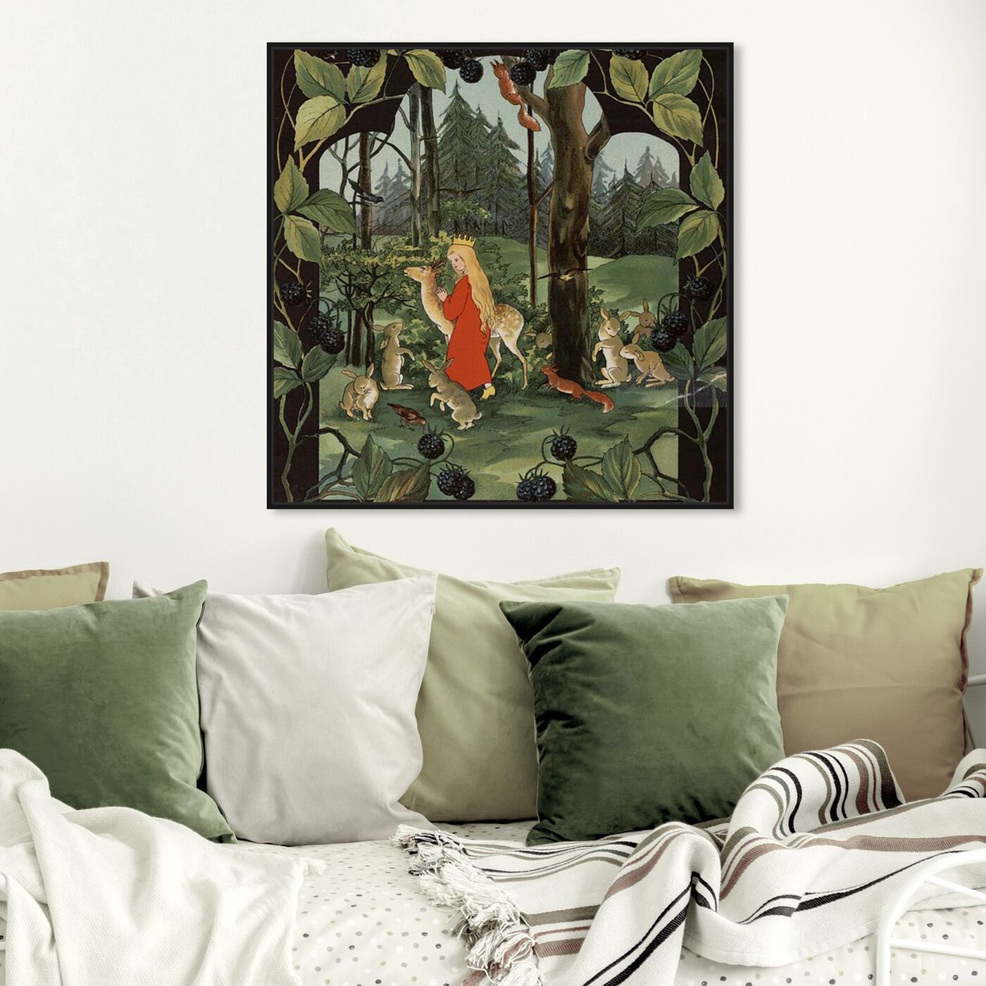 Hanging view of The Queen of the Forest featuring fantasy and sci-fi and fairy tales art.