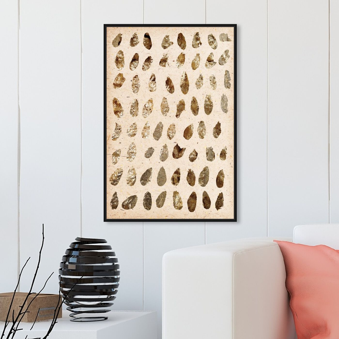 Hanging view of Gold Marismas featuring abstract and paint art.