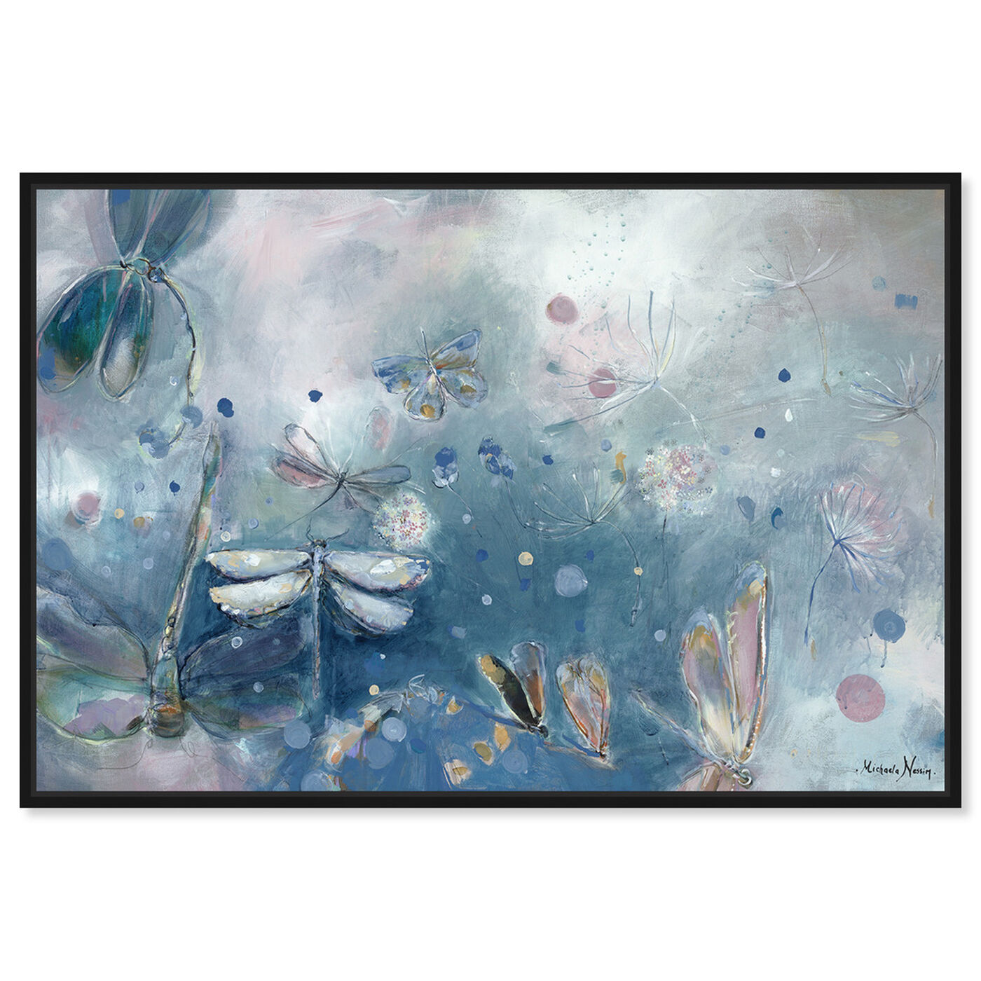 Front view of Michaela Nessim - A dragonfly dream featuring animals and insects art.