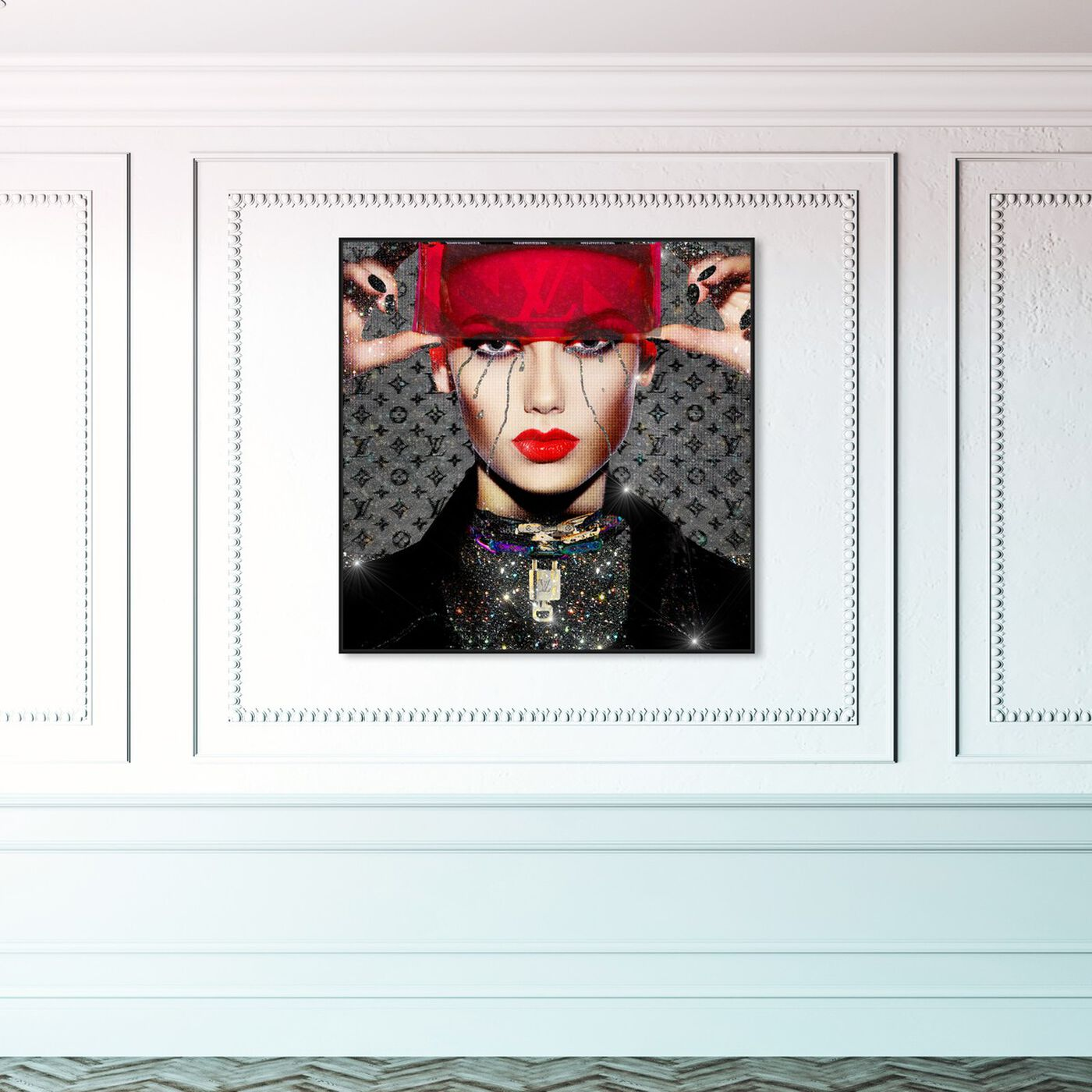 Hanging view of See You, Space Cowgirl featuring fashion and glam and portraits art.