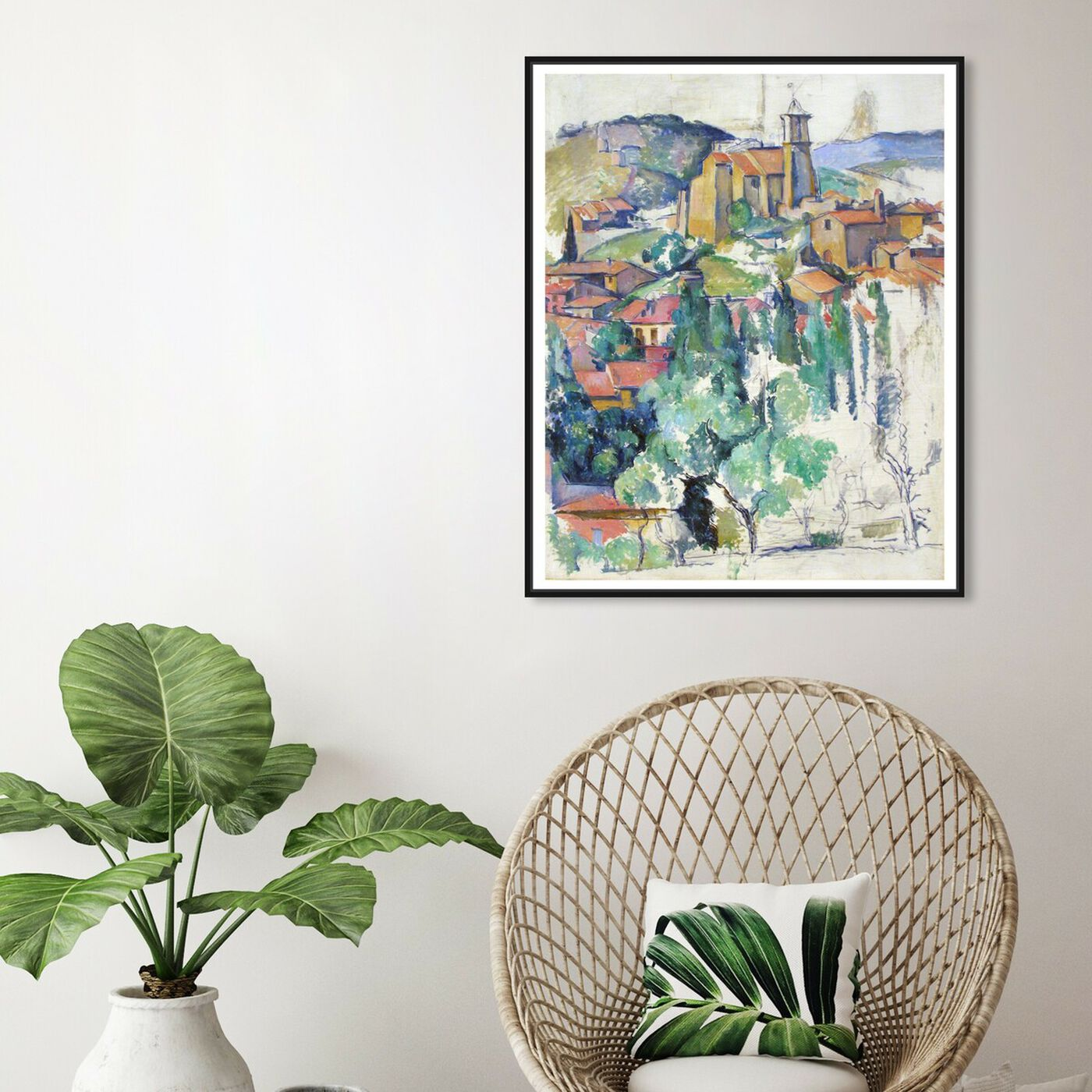 Hanging view of Cezanne - Village At Gardanne featuring classic and figurative and classic art.