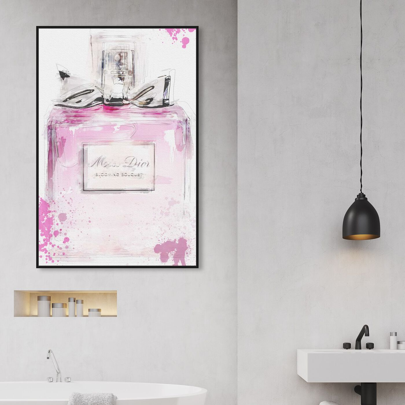 Hanging view of Perfume and Bow featuring fashion and glam and perfumes art.