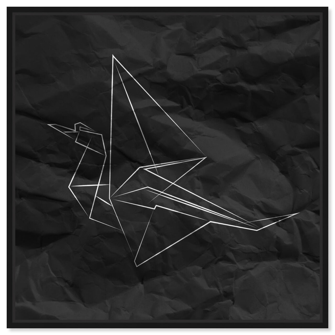 Front view of Origami Crane featuring abstract and geometric art.