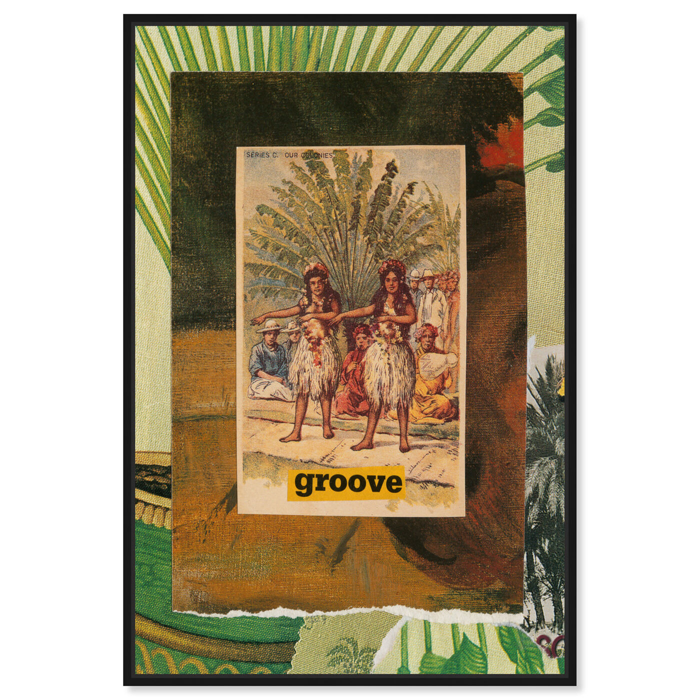 Front view of Groove  by Anne Wadsworth featuring world and countries and oceanic cultures art.