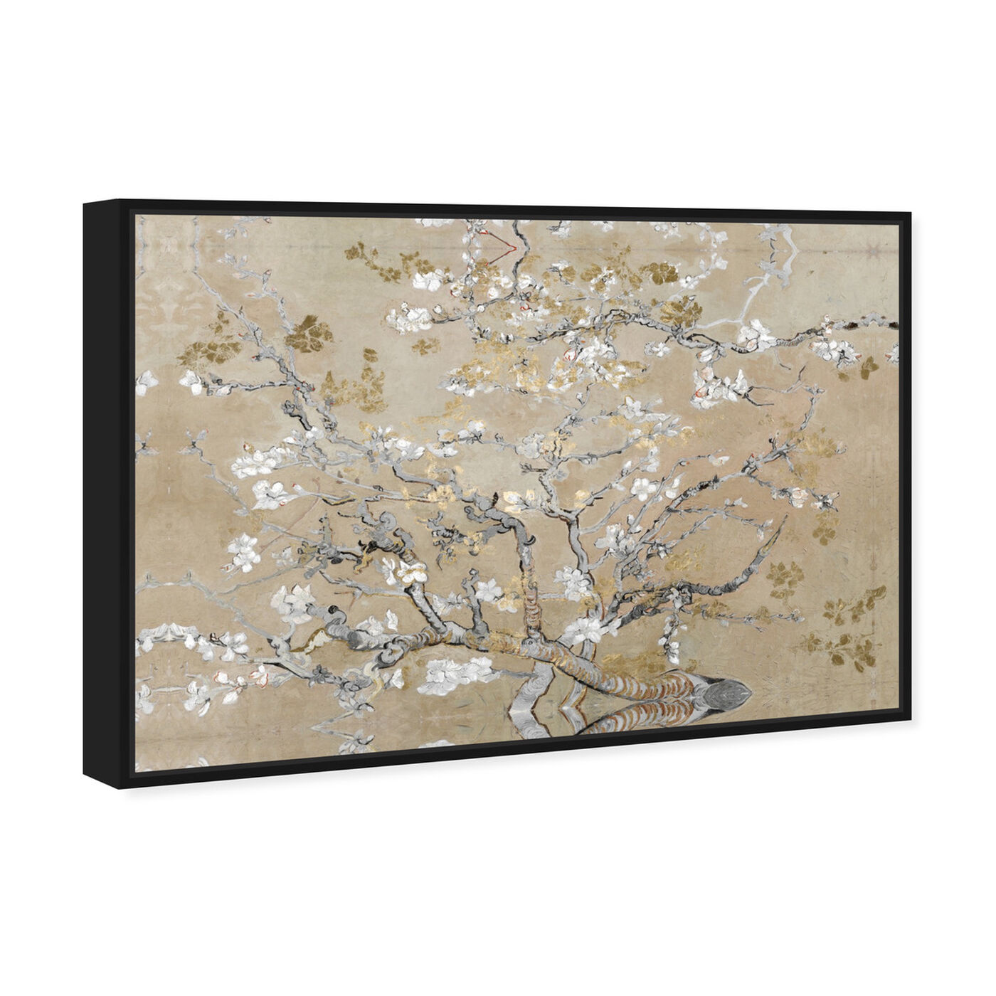 Angled view of Van Gogh in Gold Blossoms Inspiration featuring classic and figurative and impressionism art.