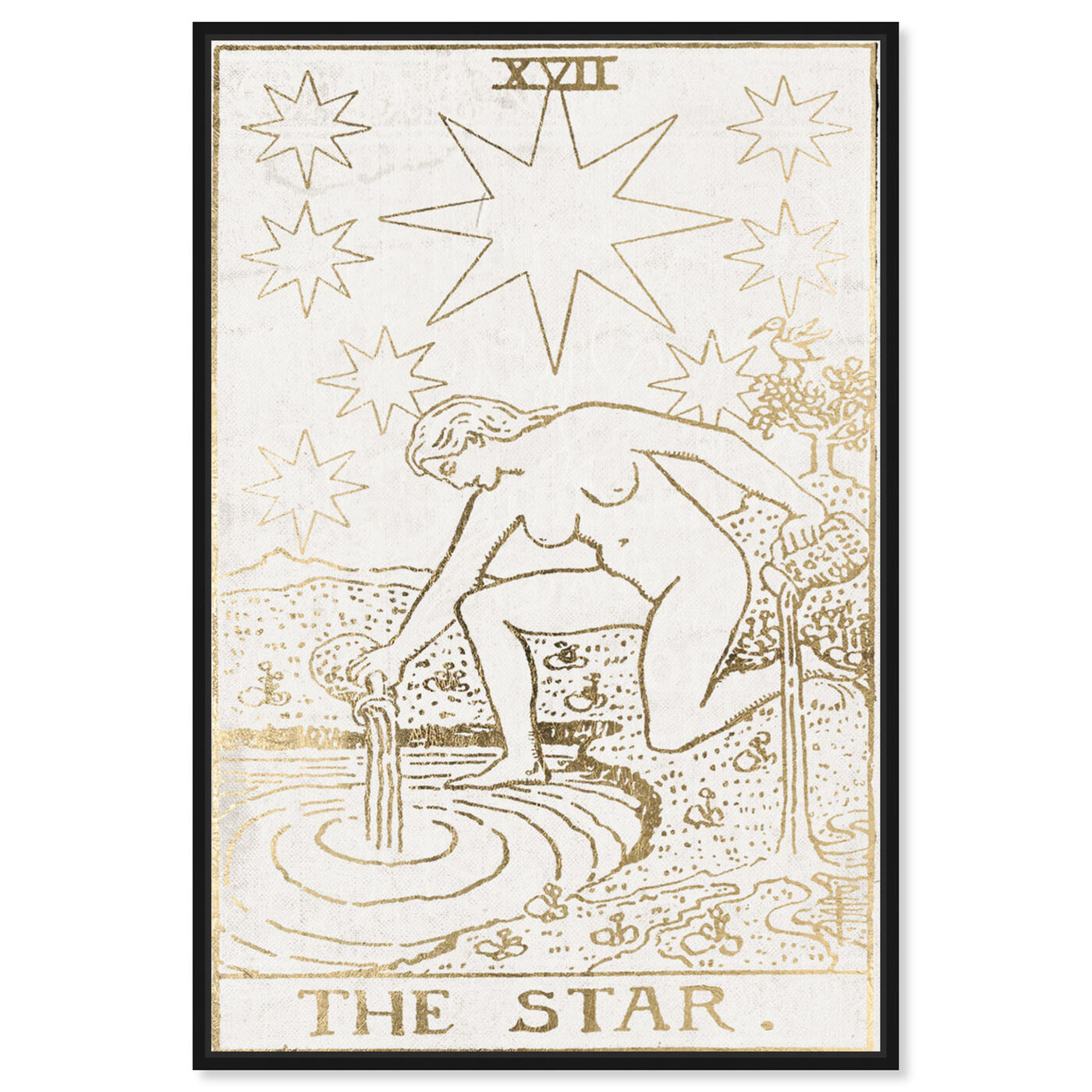 Front view of The Star Tarot Luxe featuring spiritual and religious and zodiac art.