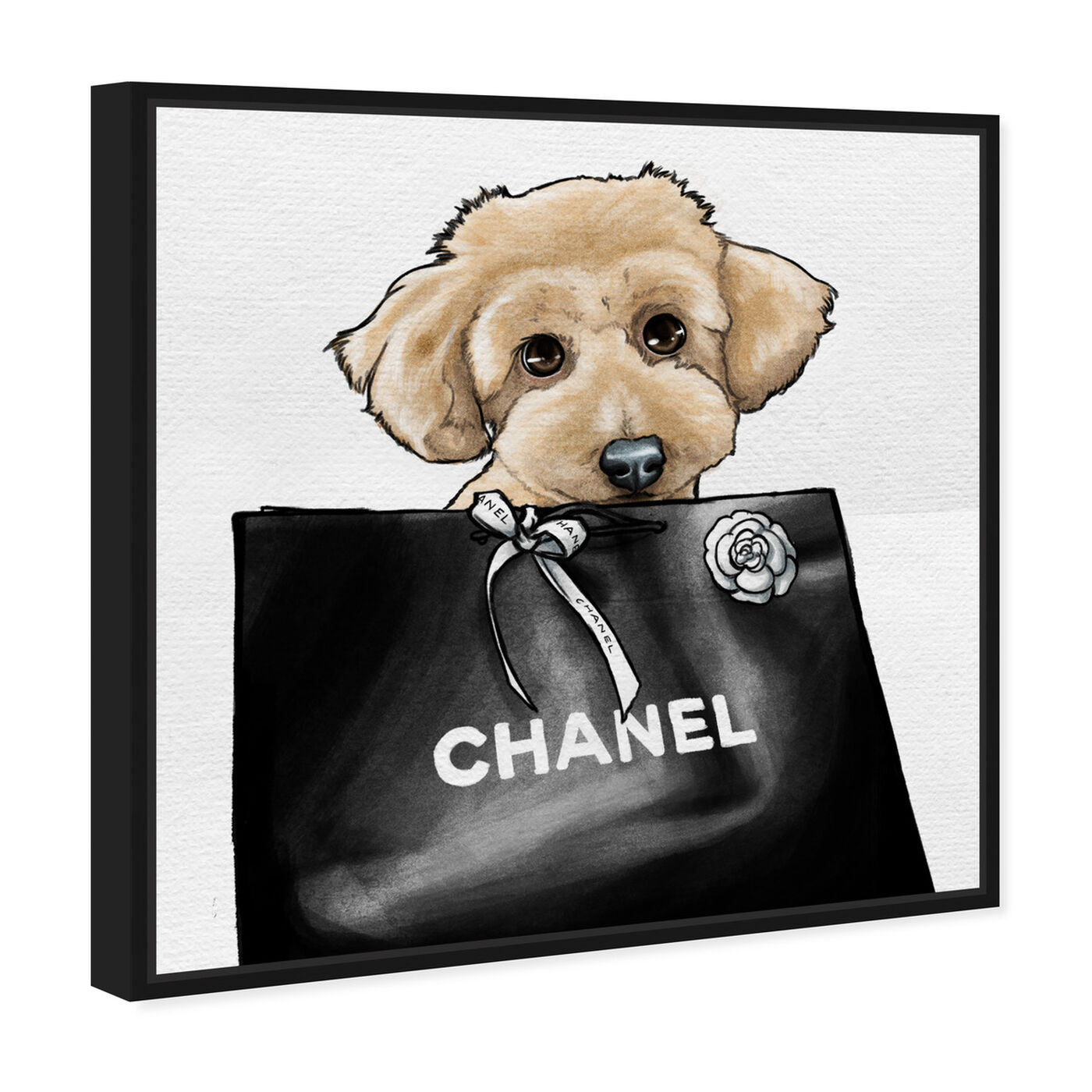 Angled view of Poodle Glam Beige featuring fashion and glam and fashion art.
