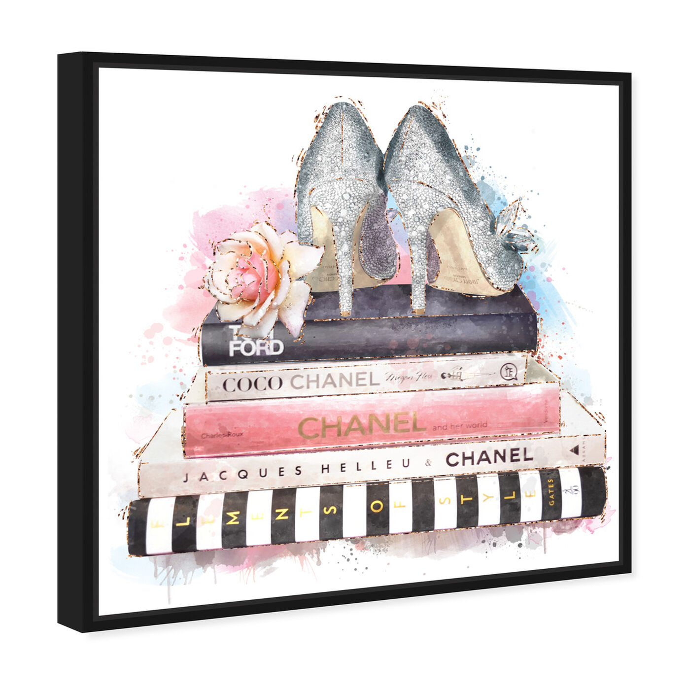 Angled view of Silver Blush Girlboss featuring fashion and glam and books art.
