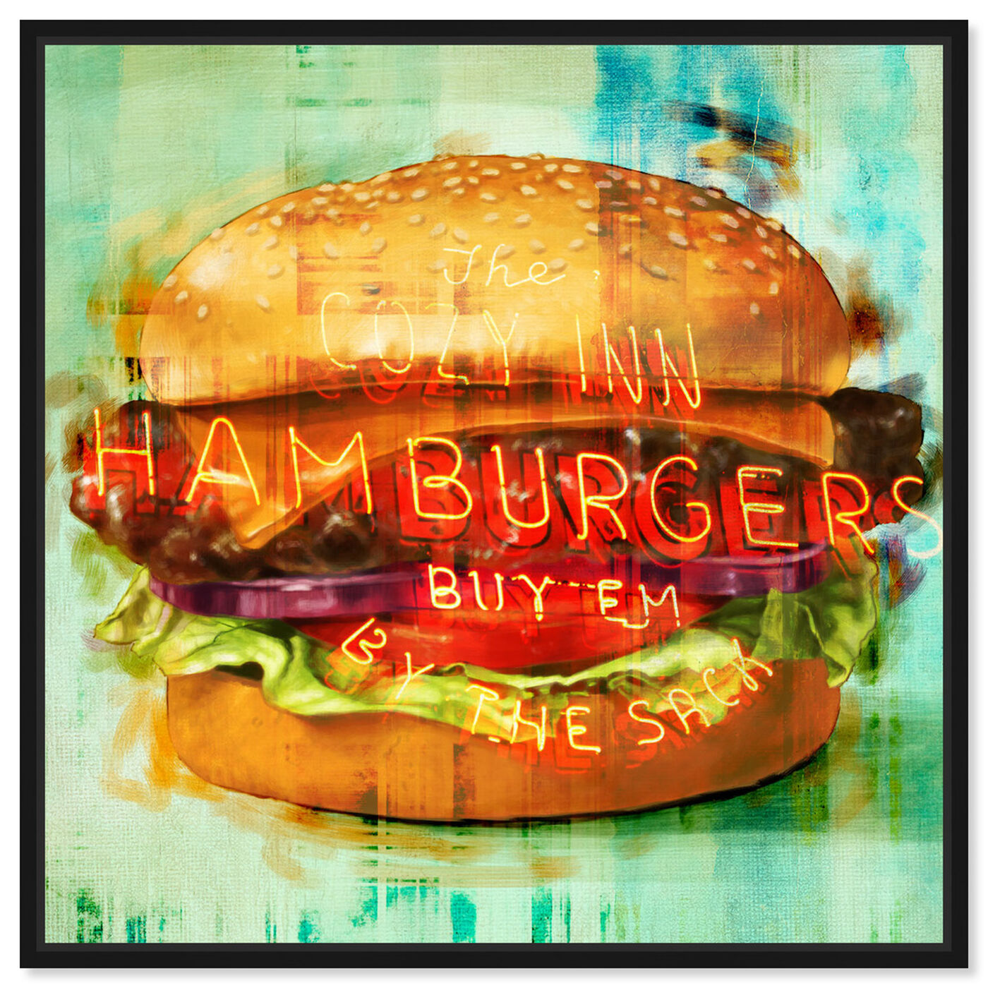 Front view of Cozy Hamburgers featuring food and cuisine and fast food art.