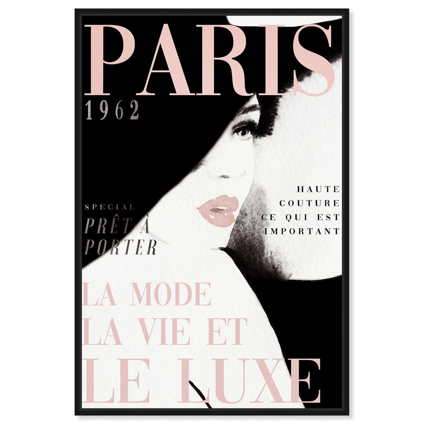 Front view of Cover Paris in Blush featuring fashion and glam and makeup art.