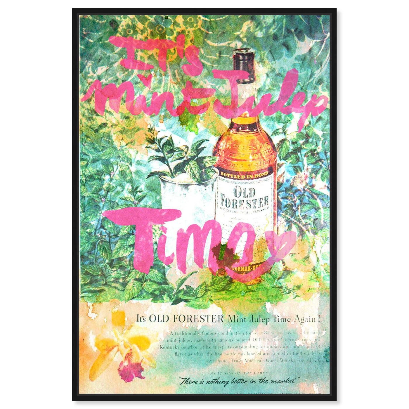 Front view of Mint Julep Time featuring drinks and spirits and liquor art.