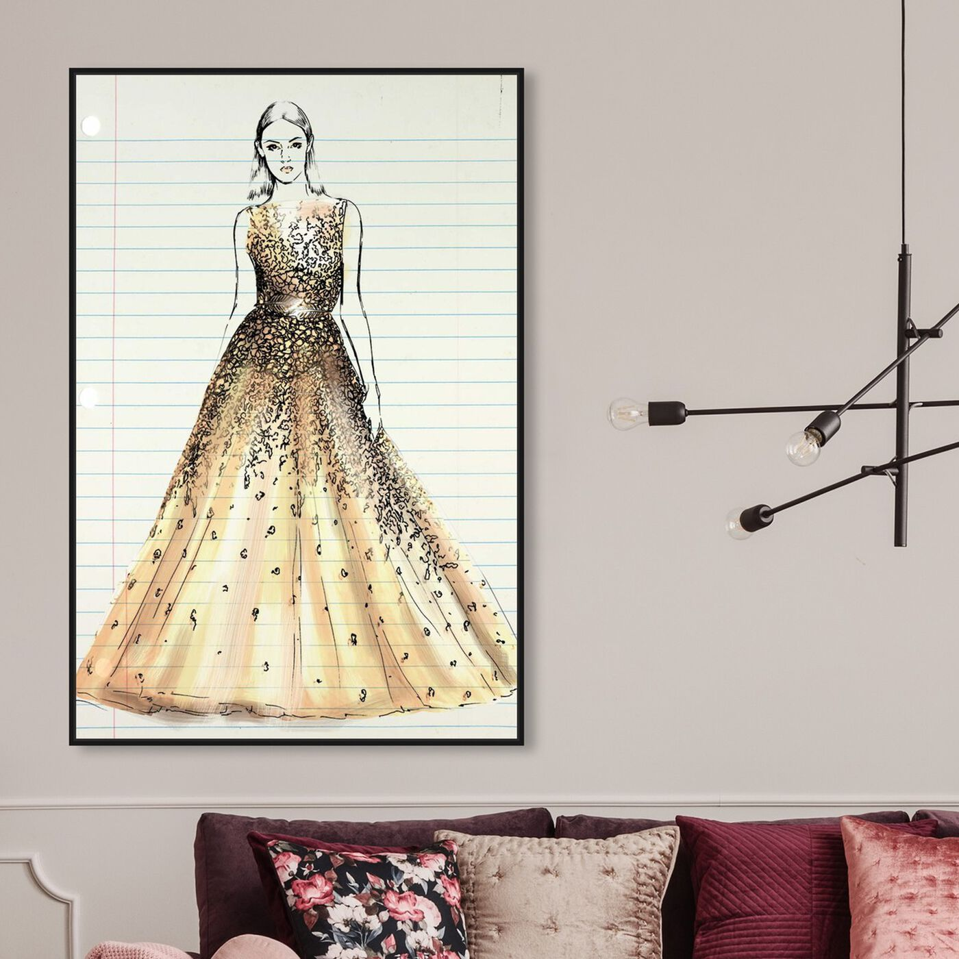Hanging view of Fashion Letter featuring fashion and glam and dress art.