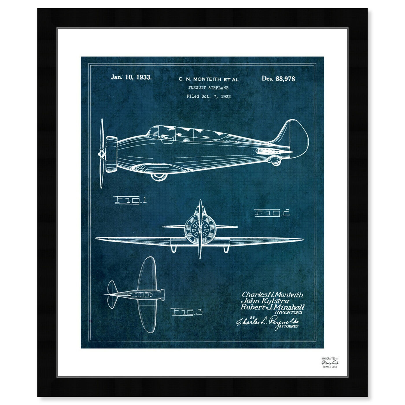 Front view of Pursuit Airplane 1933 featuring transportation and airplanes art.