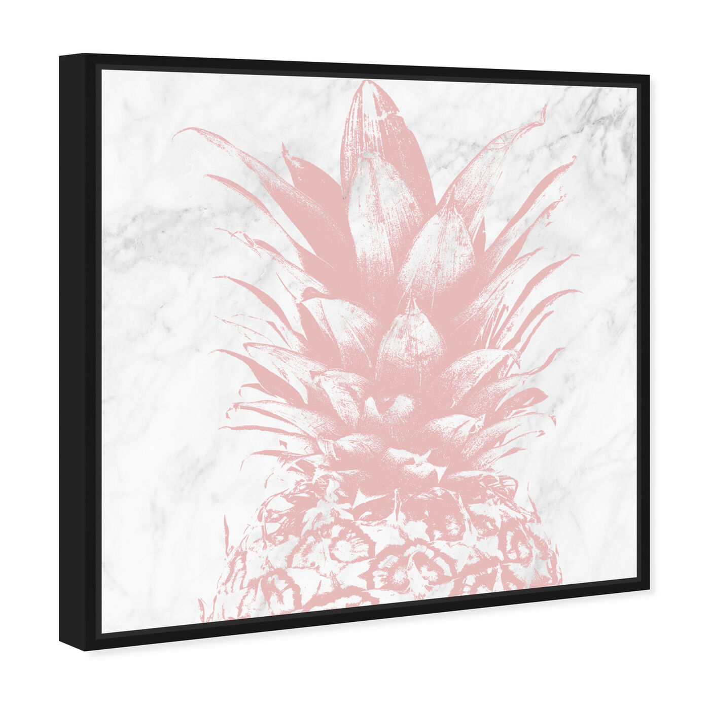 Angled view of Pastel Pink Pineapple Marble featuring food and cuisine and fruits art.
