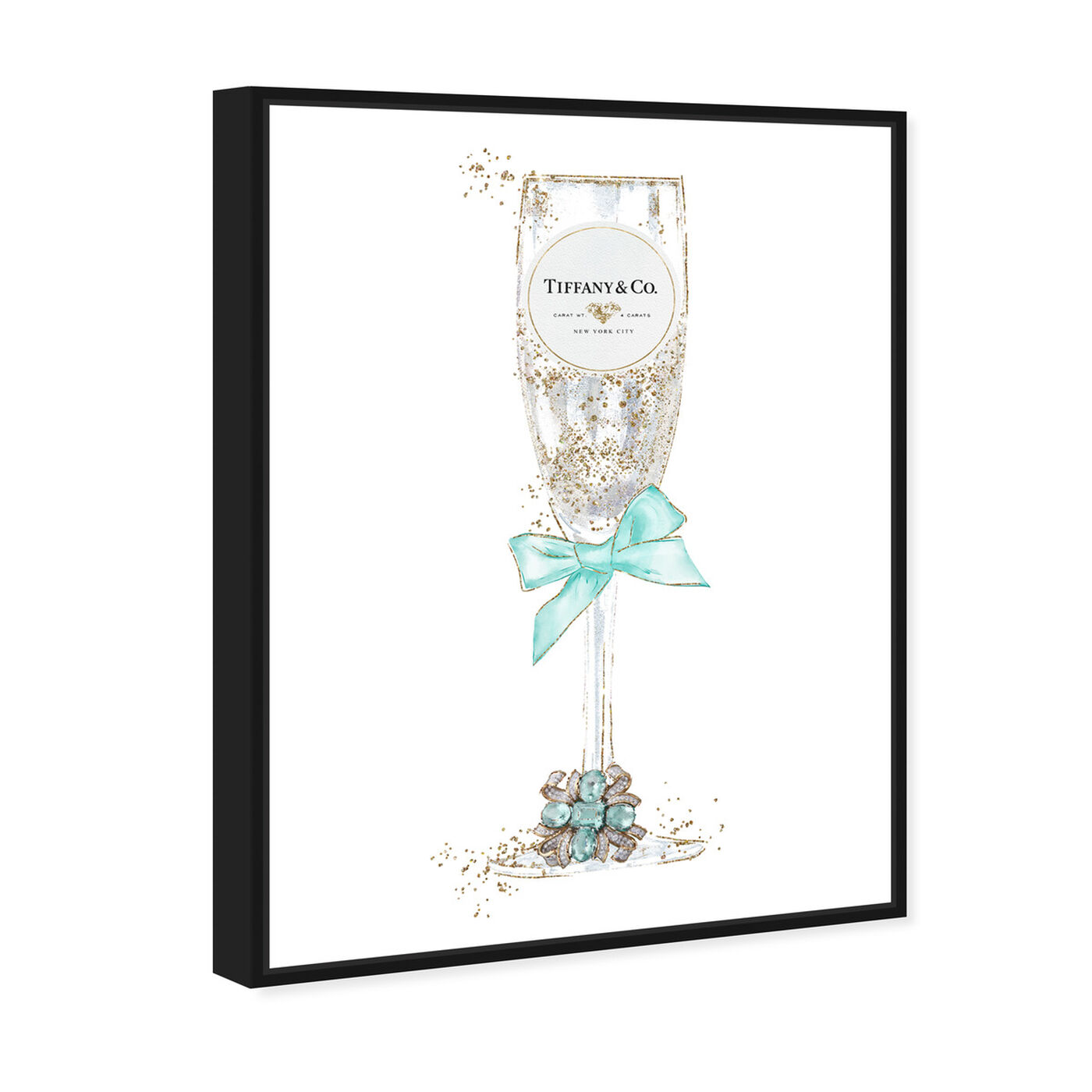 Angled view of Delicate Royal Bubbly Champagne featuring fashion and glam and jewelry art.