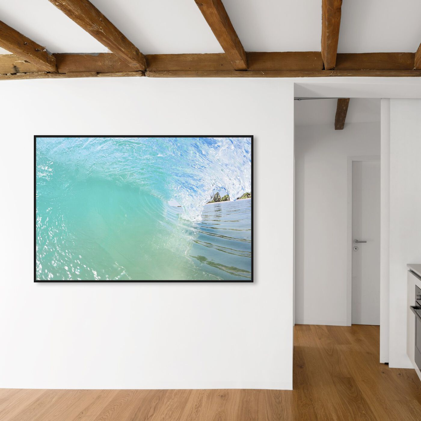 Hanging view of David Fleetham - Breaking Wave Light featuring nautical and coastal and coastal landscapes art.