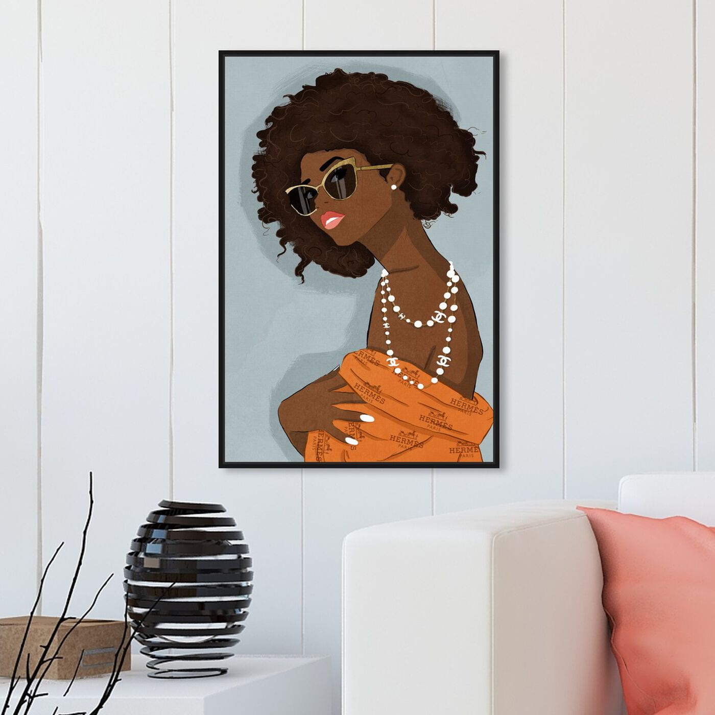 Hanging view of Girl and a Pearl Earring featuring fashion and glam and jewelry art.