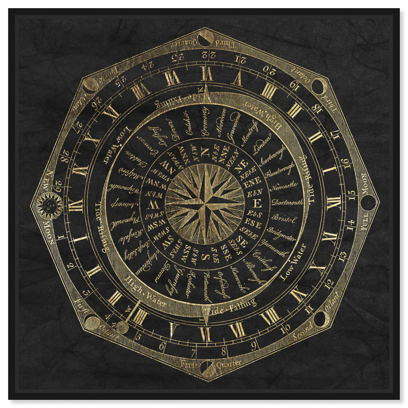 Front view of Sky Compass featuring astronomy and space and moons art.