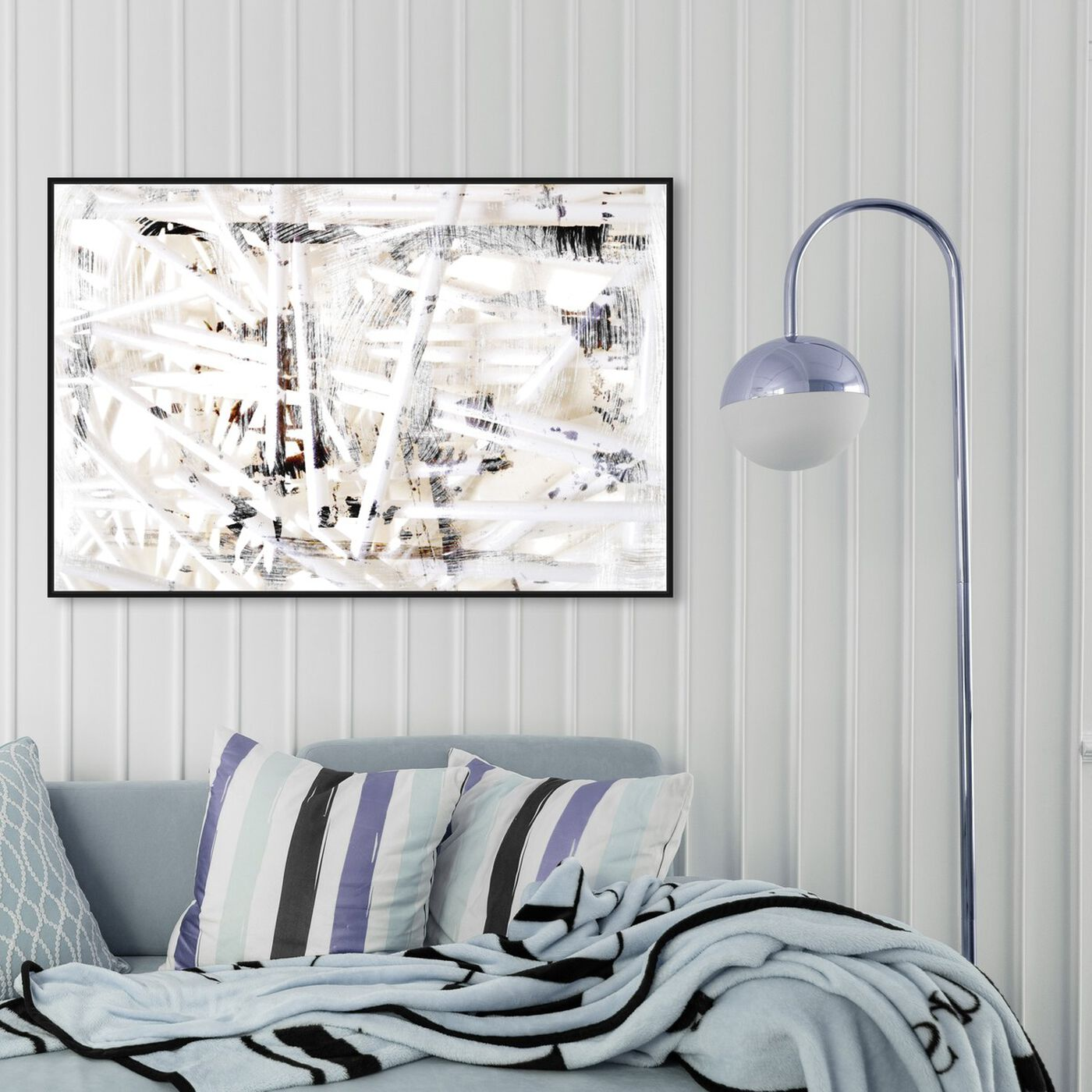 Hanging view of Marcella featuring abstract and paint art.
