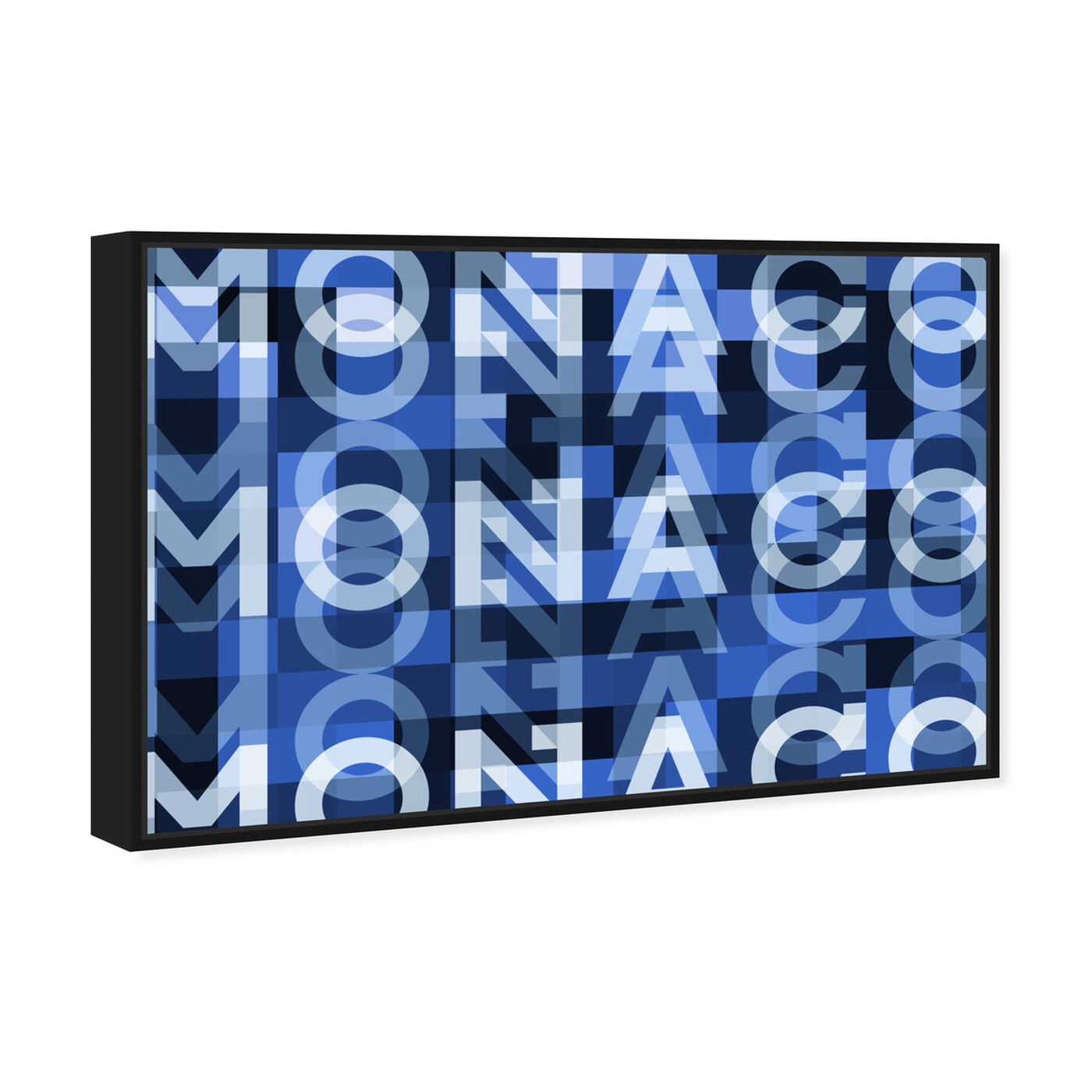 Angled view of Monaco featuring world and countries and european countries art.