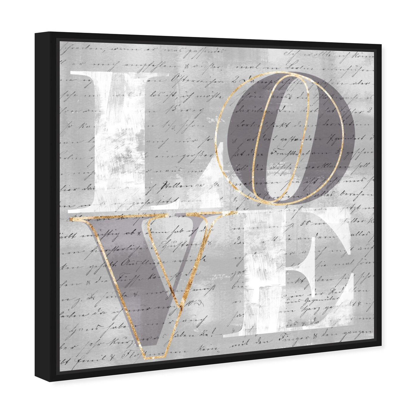 Angled view of Double Love I featuring typography and quotes and love quotes and sayings art.