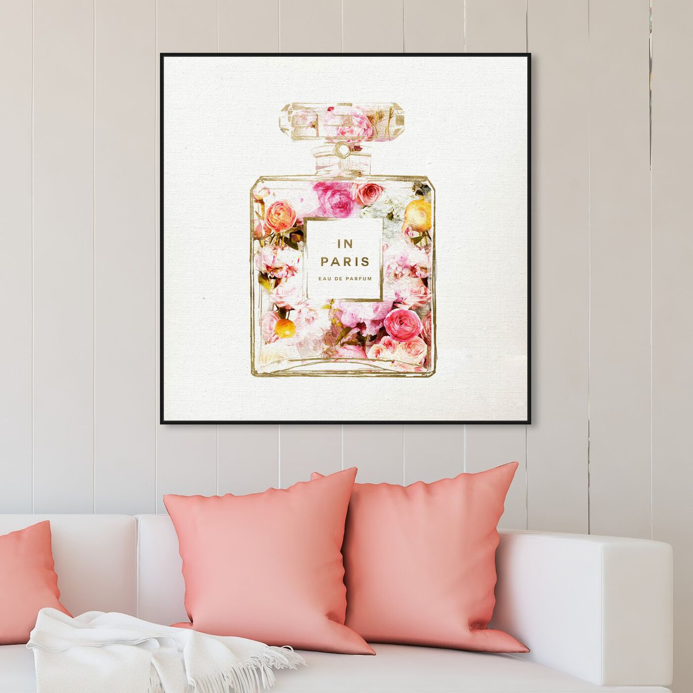 Hanging view of Paris Floral Perfume featuring fashion and glam and perfumes art.