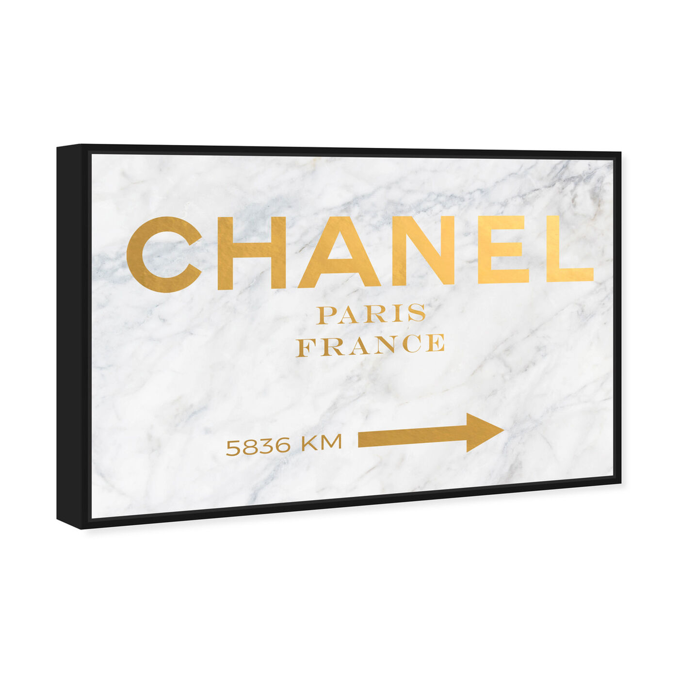 Angled view of Paris Road Sign featuring fashion and glam and road signs art.