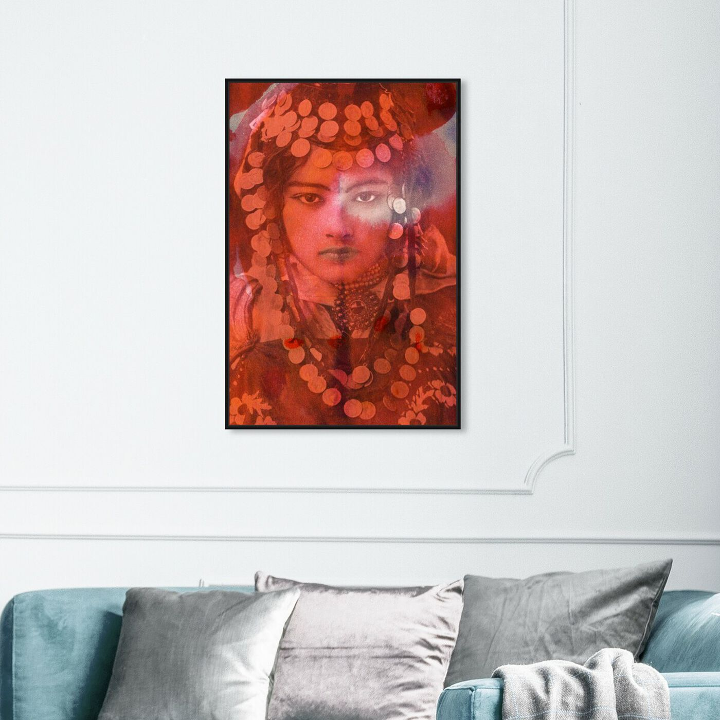 Hanging view of Gypsy Girl featuring classic and figurative and classic art.