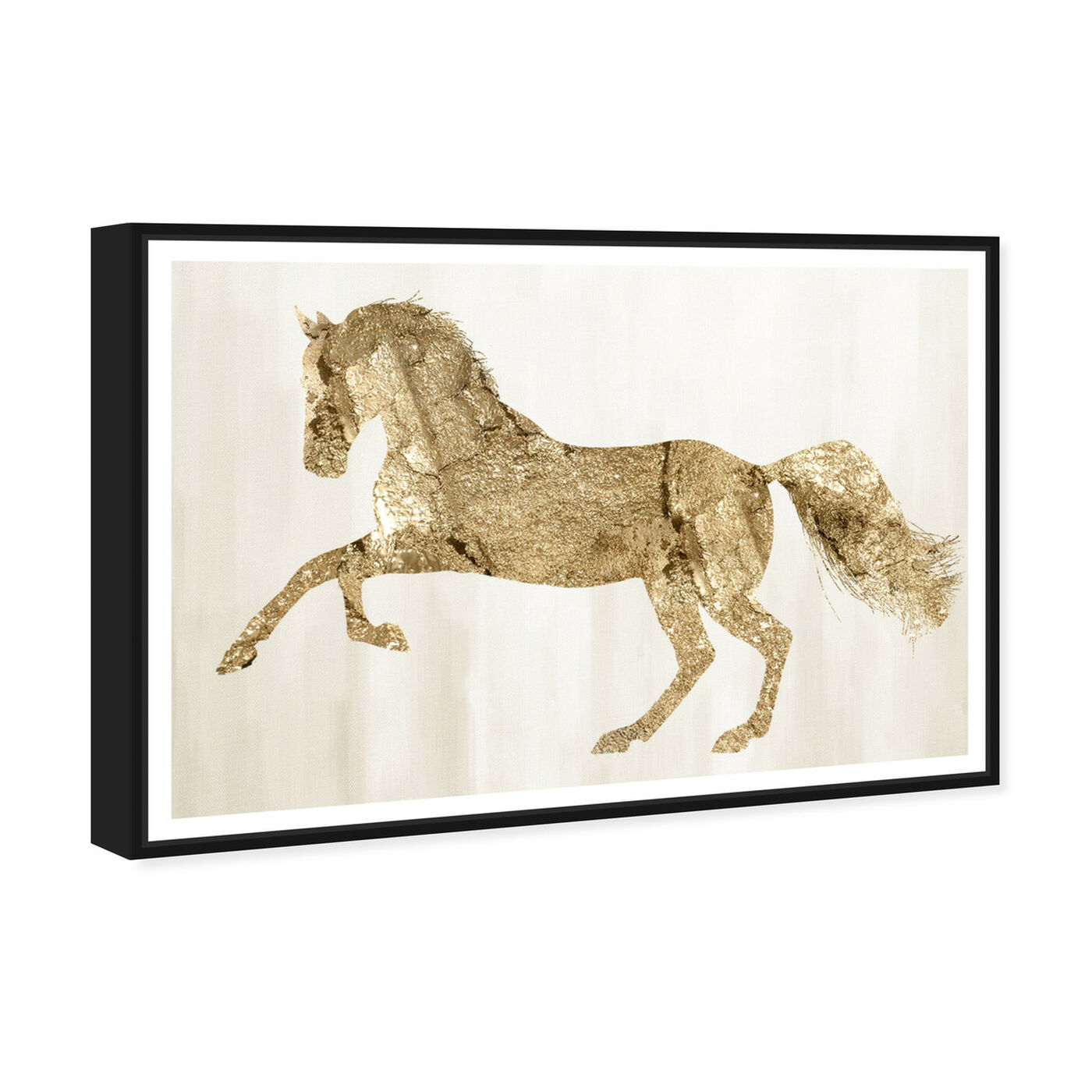 Angled view of Gold Wild and Free featuring animals and farm animals art.