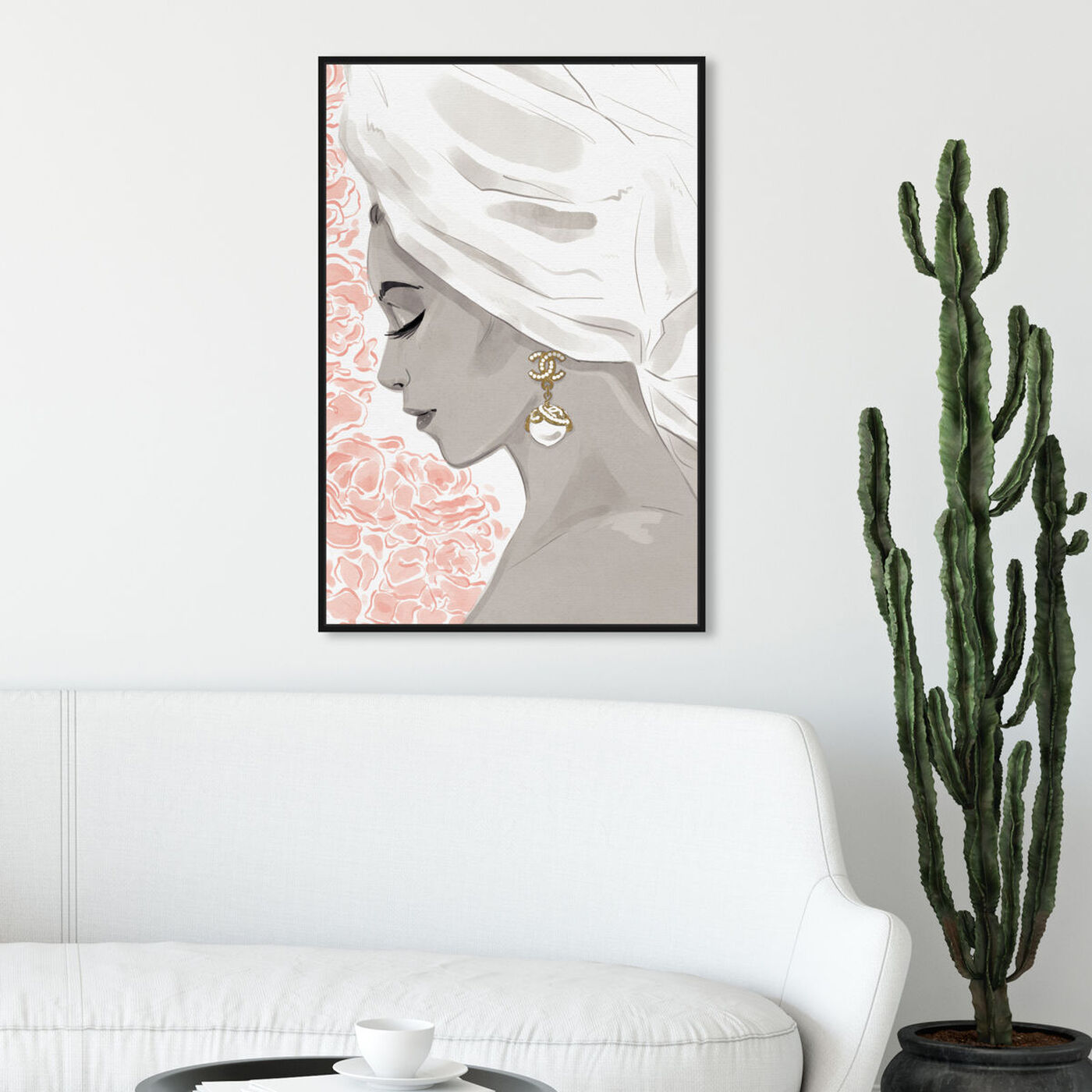 Hanging view of Bath Bomb Beauty III featuring fashion and glam and portraits art.