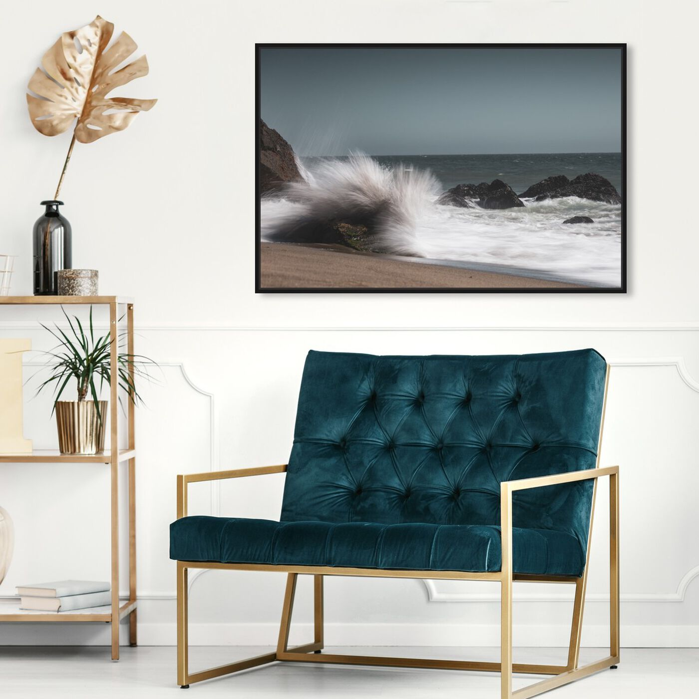 Hanging view of Curro Cardenal - Breaking Wave Live featuring nautical and coastal and coastal art.