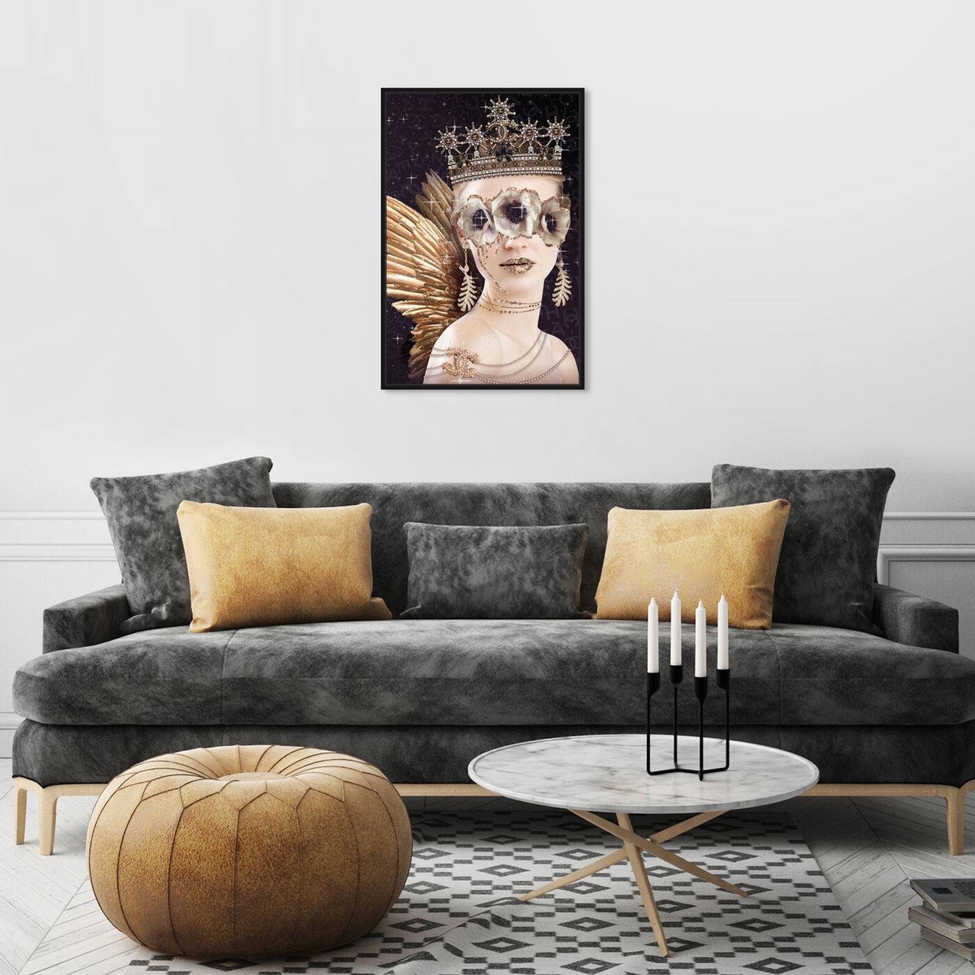 Hanging view of Camelia Queen featuring fashion and glam and accessories art.
