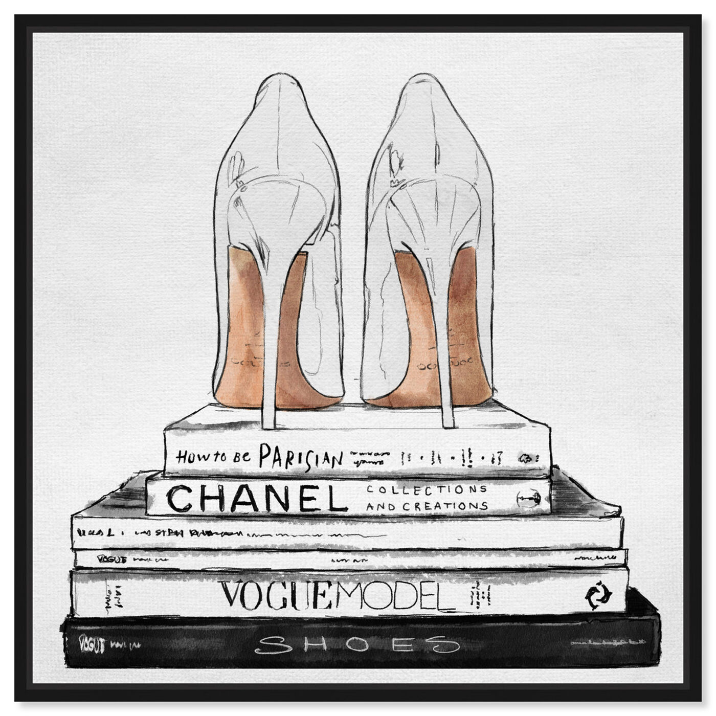 Front view of Sandalone Shoes I featuring fashion and glam and shoes art.