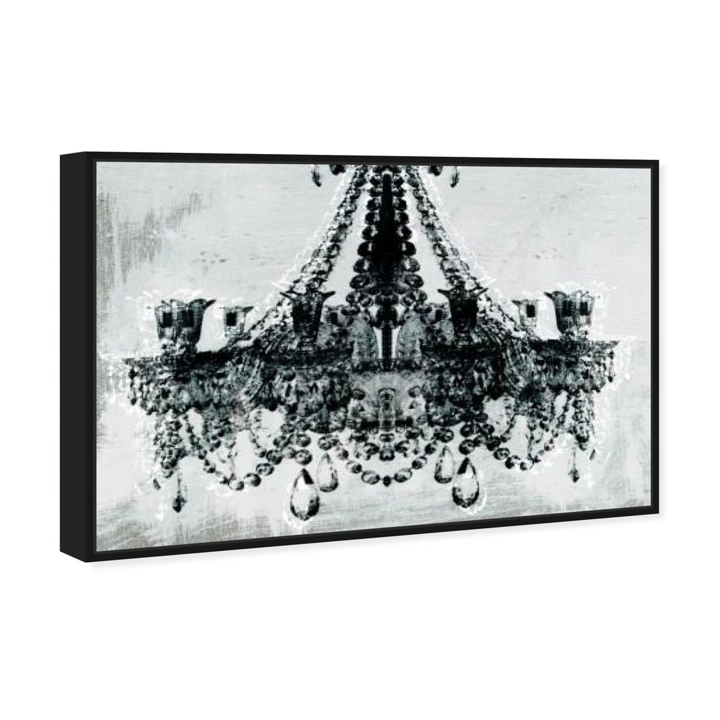 Angled view of Dramatic Entrance featuring fashion and glam and chandeliers art.