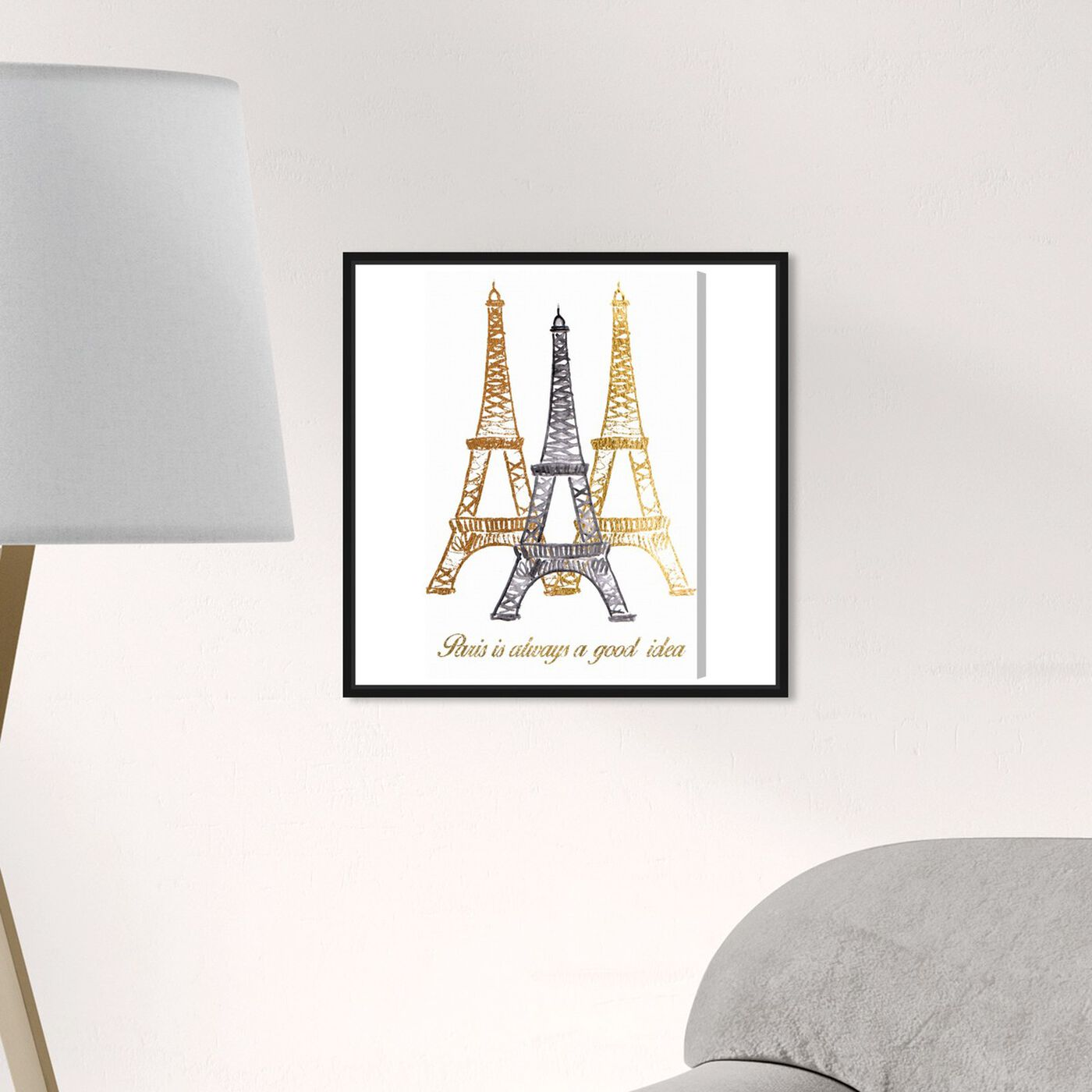 Hanging view of Always Paris Tall featuring cities and skylines and european cities art.