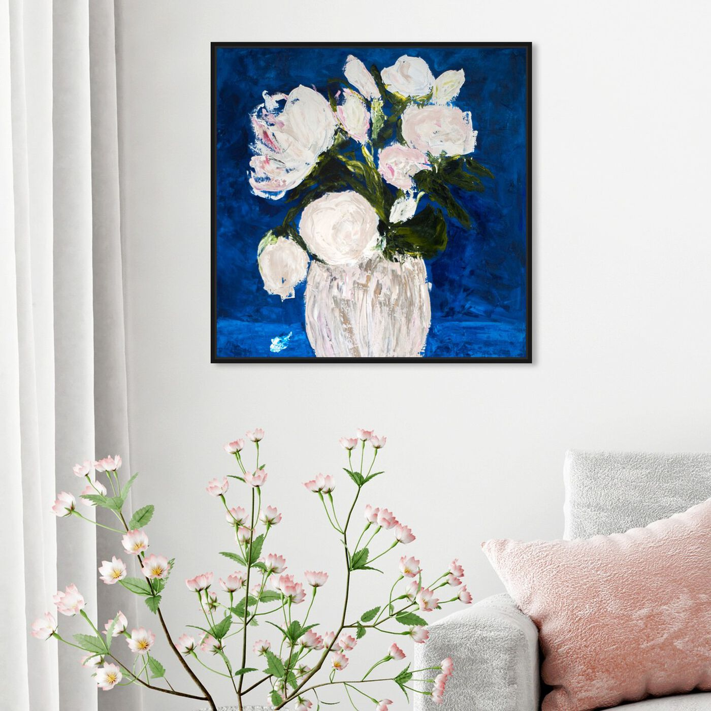 Hanging view of Imagine by Claire Sower featuring floral and botanical and florals art.