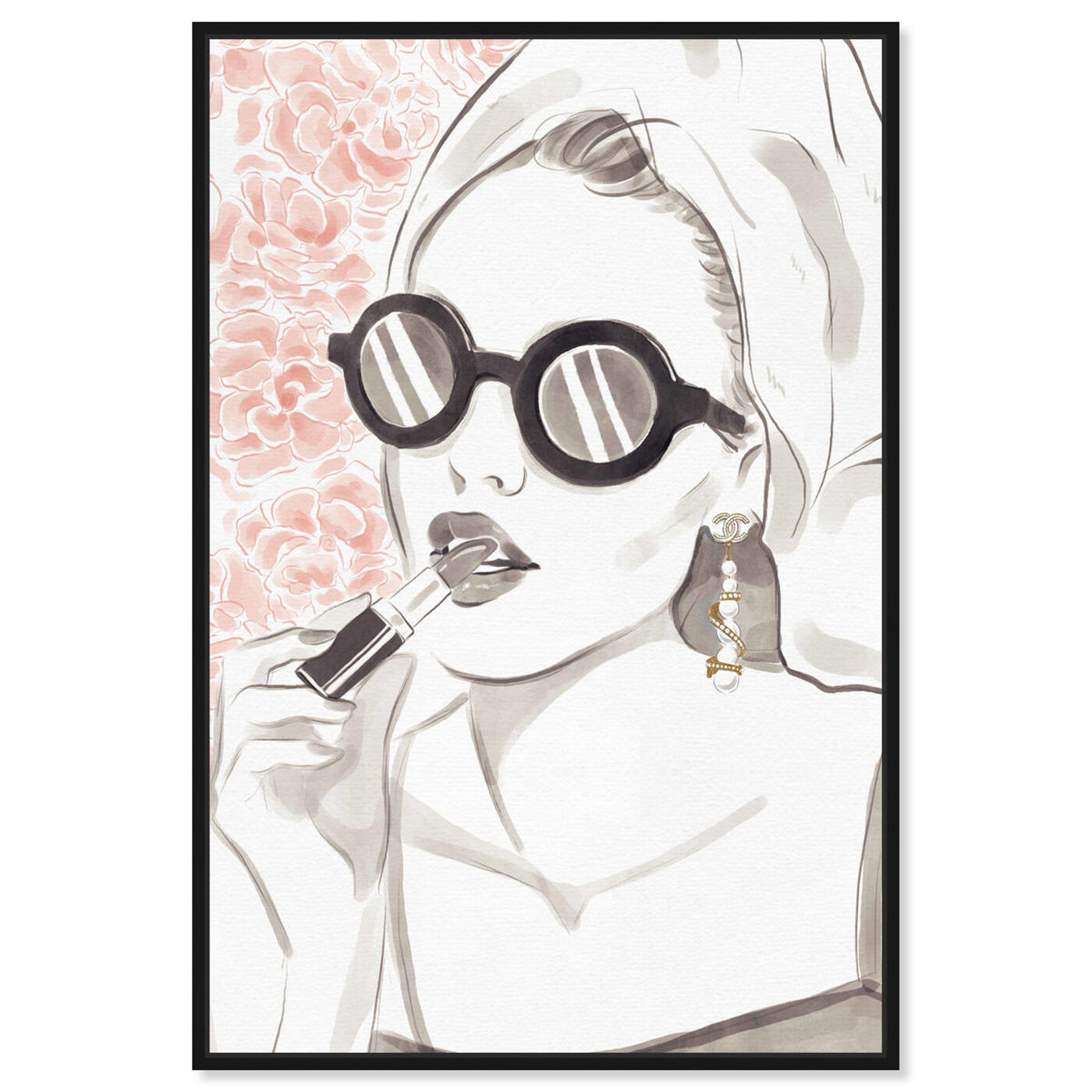 Front view of Sunglasses Bomb Beauty featuring fashion and glam and portraits art.