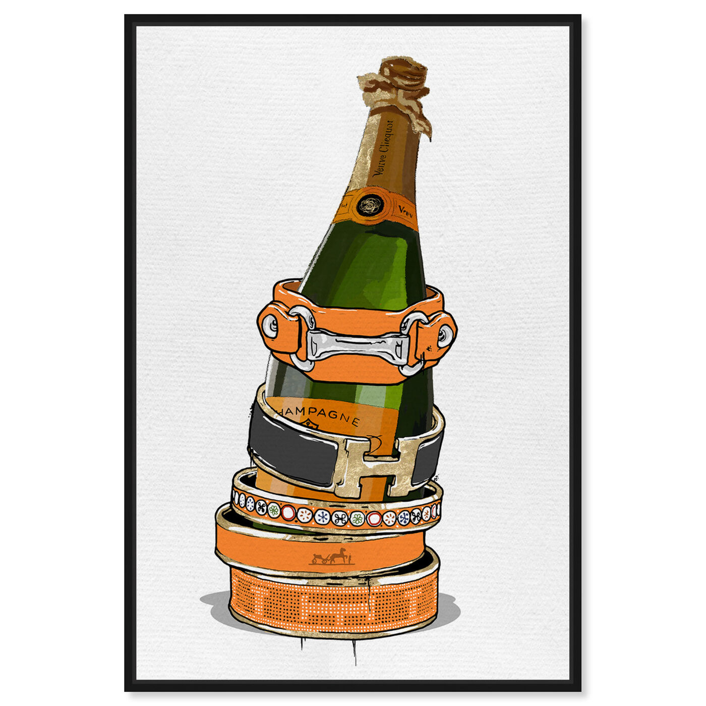 Front view of Arm Candy Champagne featuring fashion and glam and jewelry art.