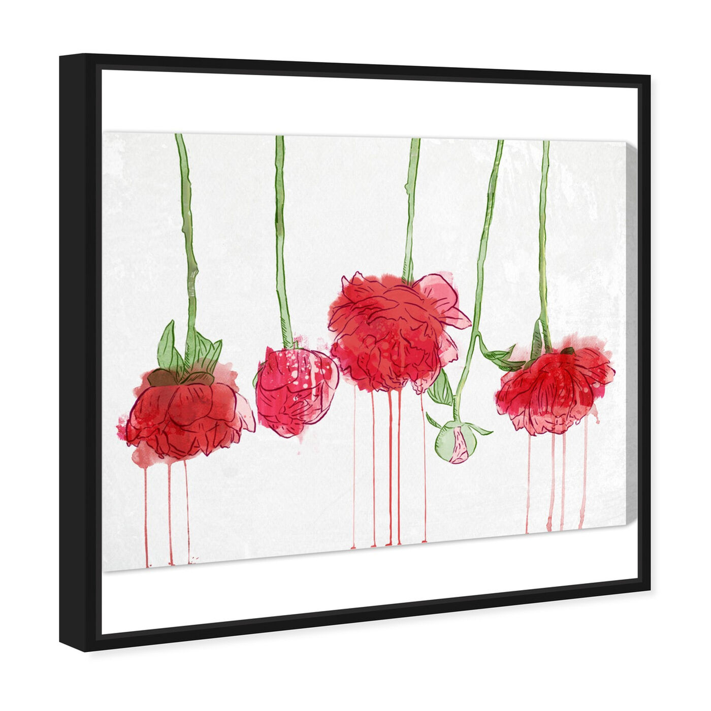Angled view of Drying Carnations featuring floral and botanical and florals art.