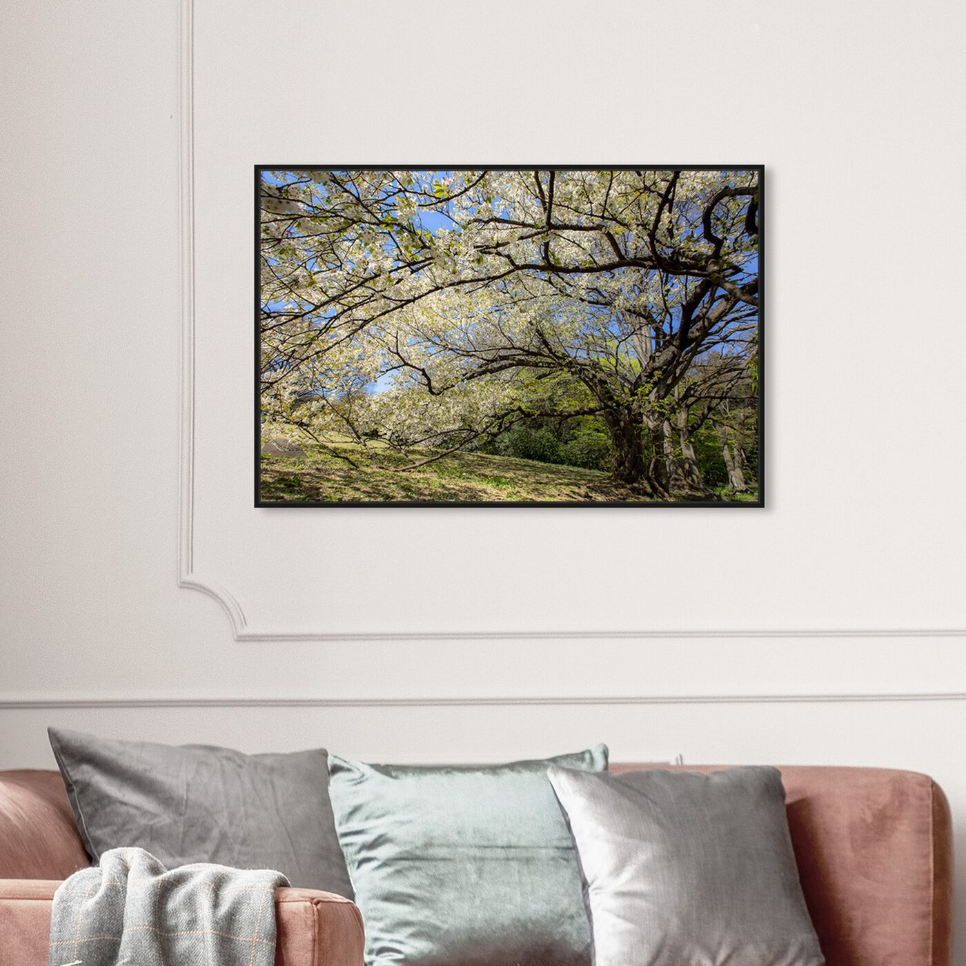 Hanging view of Curro Cardenal - Under the Tree featuring floral and botanical and trees art.